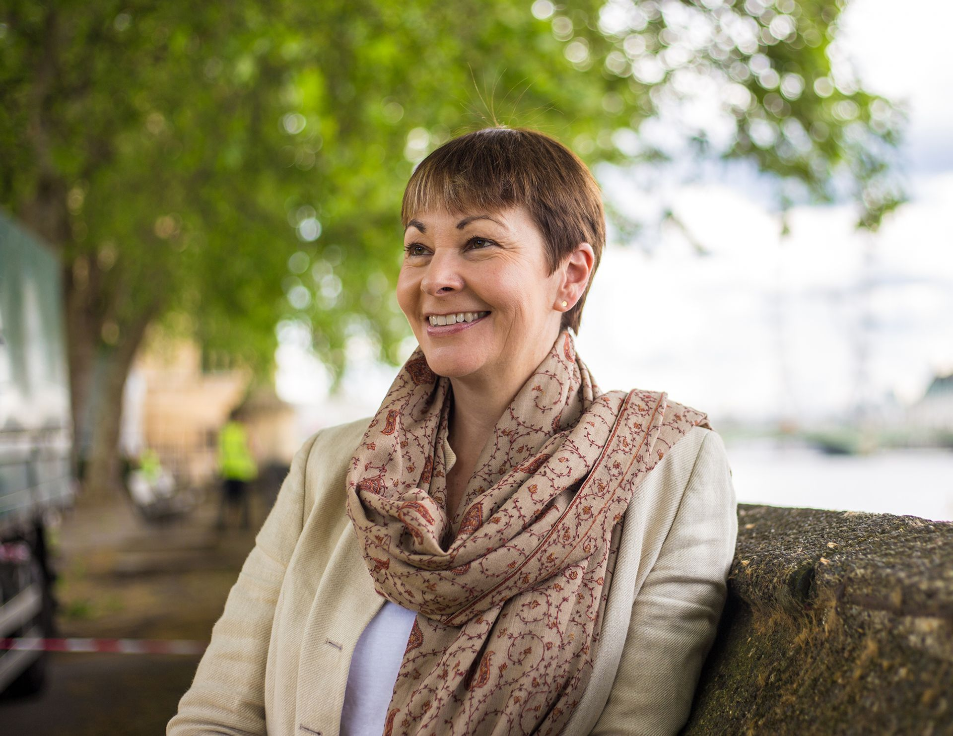 Caroline Lucas, the member of parliament for Brighton Pavilion, is known for her anti-Brexit stance Courtesy of Towner Art Gallery