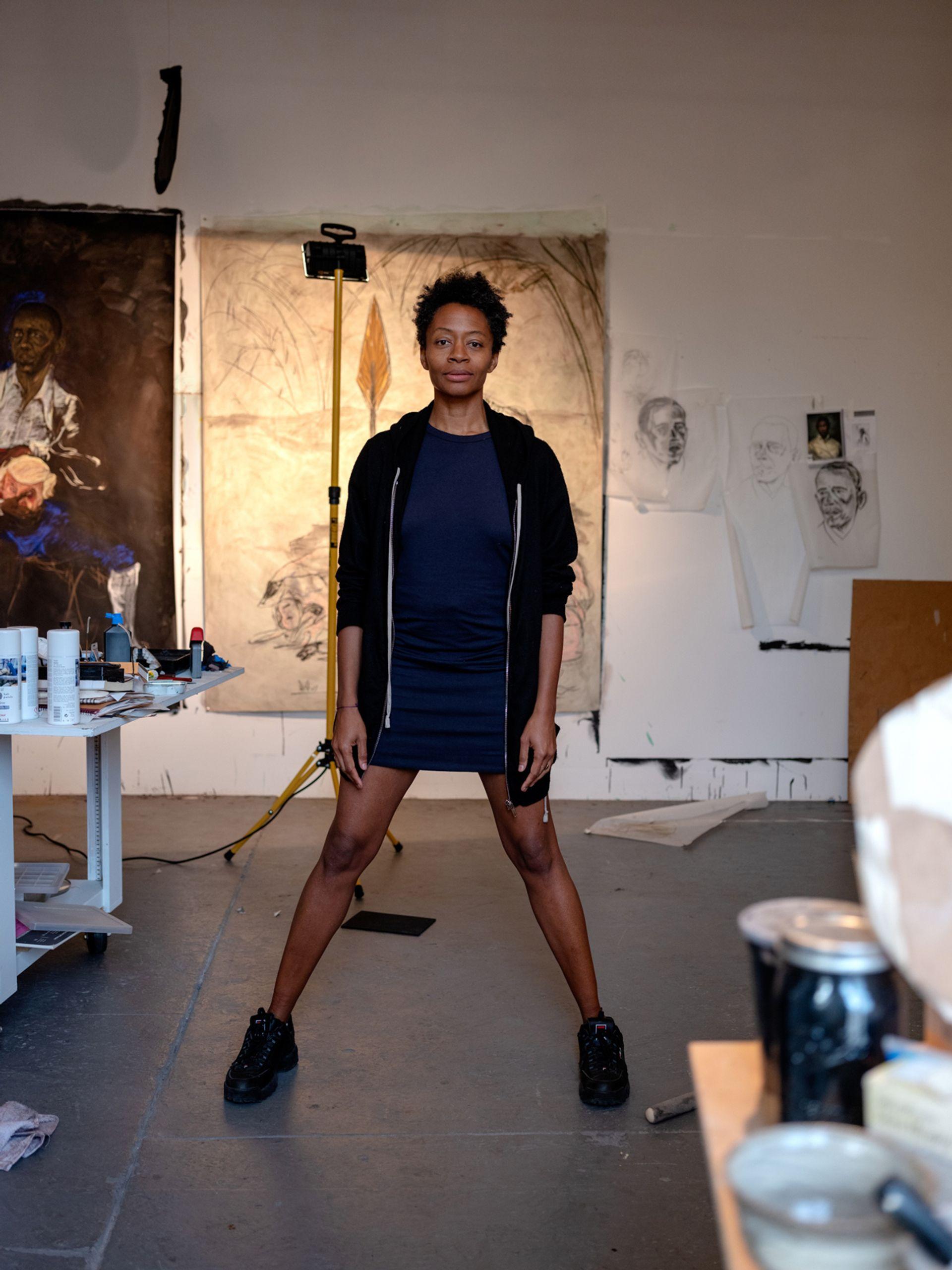 Kara Walker in her studio in 2019 © Ari Marcopoulos