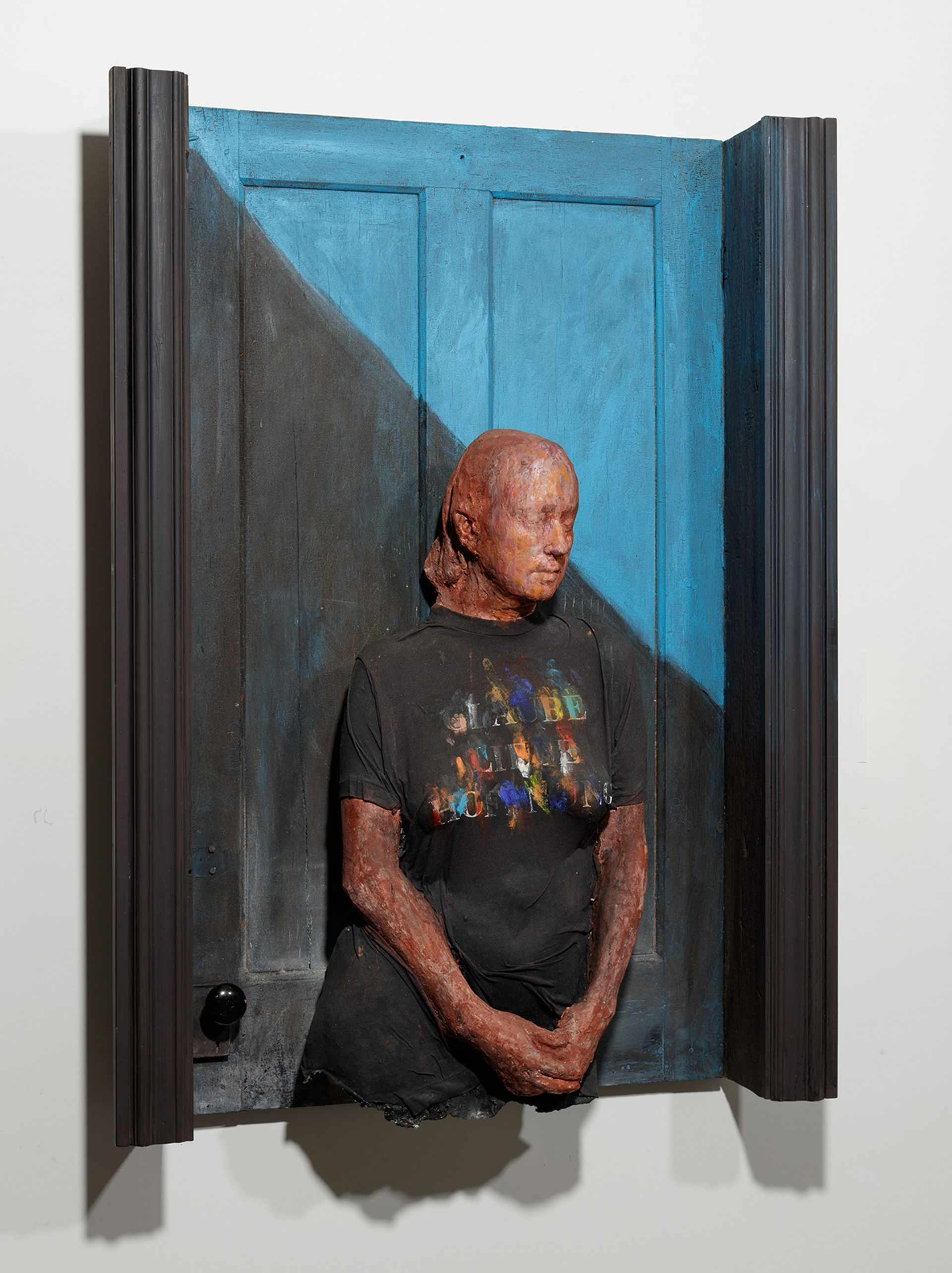 George Segal, Woman in Black T-Shirt (1990) Photo: courtesy of the Boca Raton Museum of Art