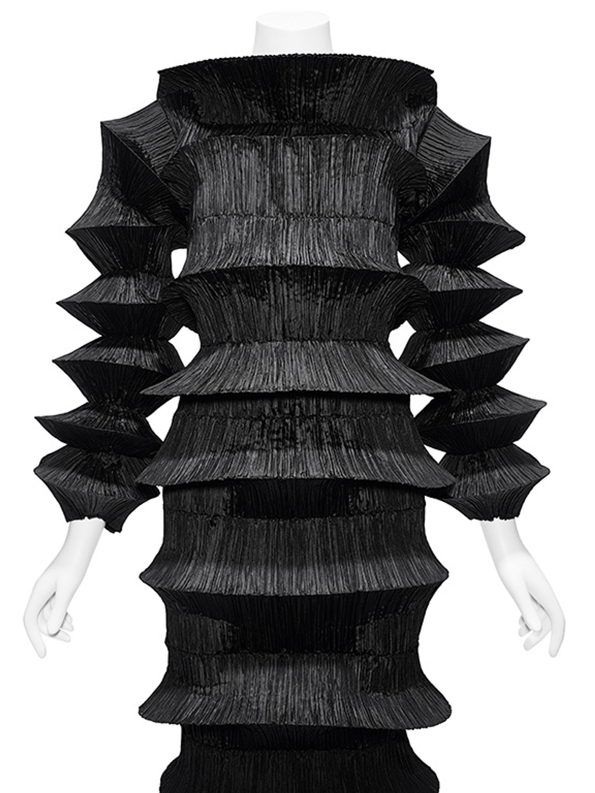 Issey Miyake's flying saucer dress from 1994, which will be featured in About Time: Fashion and Duration at the Metropolitan Museum of Art Courtesy of Metropolitan Museum of Art