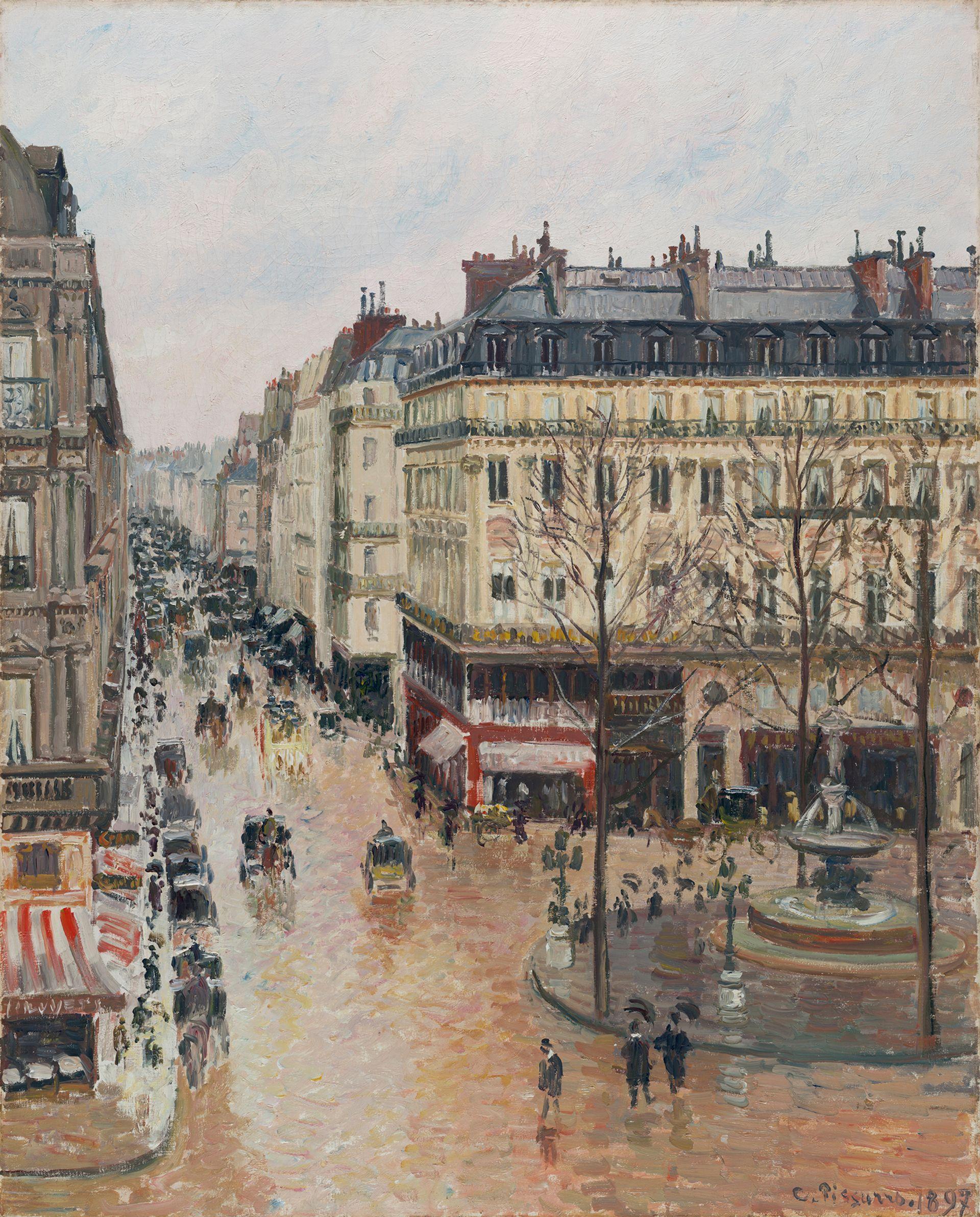 Pissarro's Rue St. Honoré, Après Midi, Effet de Pluie (1897) Thyssen-Bornemisza Museo Nacional