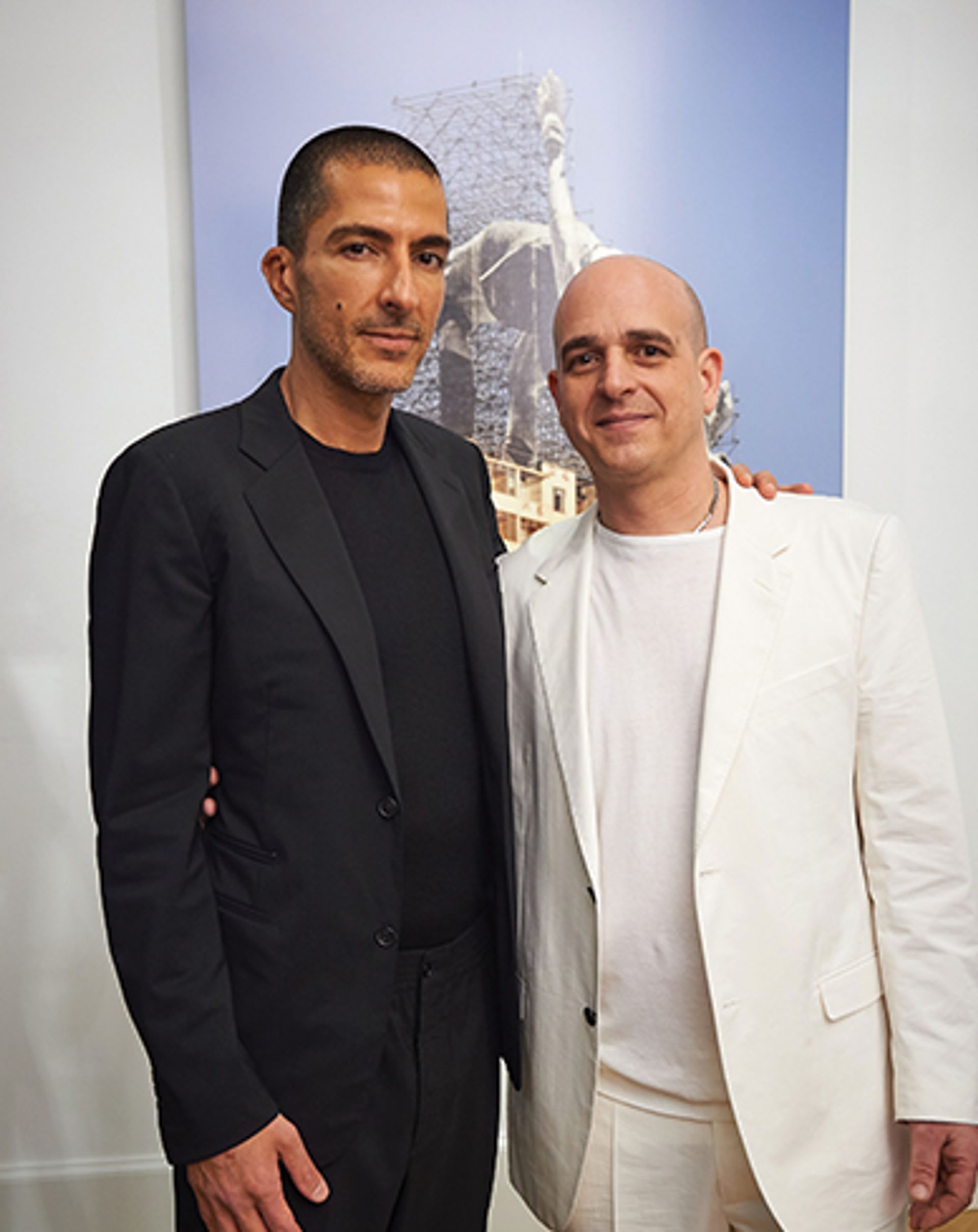 Wissam Al Mana and Steve Lazarides (right) at the Lazinc gallery they set up last year © Rex Shutterstock
