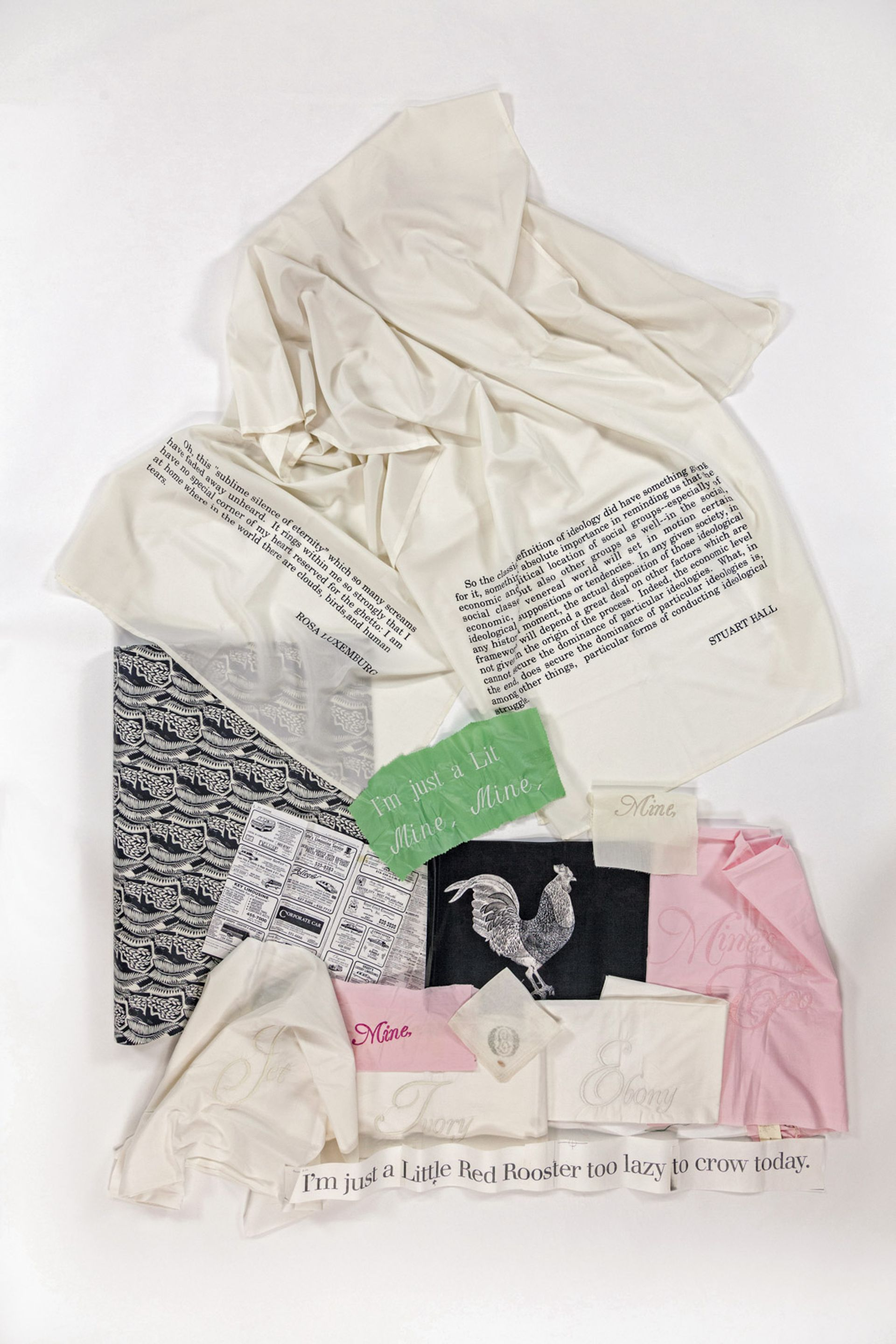 Work in progress: items from Carrie Mae Weems' box of materials Carlos Avendaño