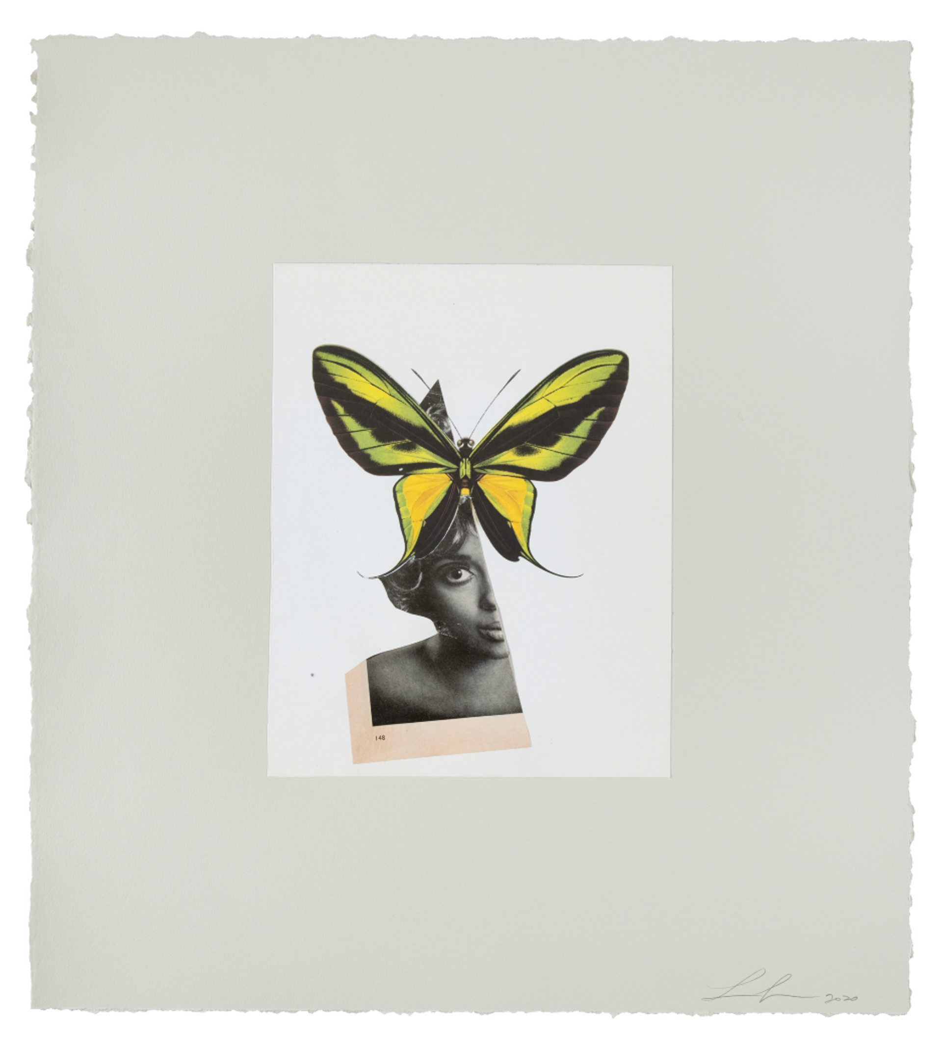 Lorna Simpson, Queen Butterfly (2020) © Lorna Simpson. Courtesy the artist and Hauser & Wirth. Photo by James Wang