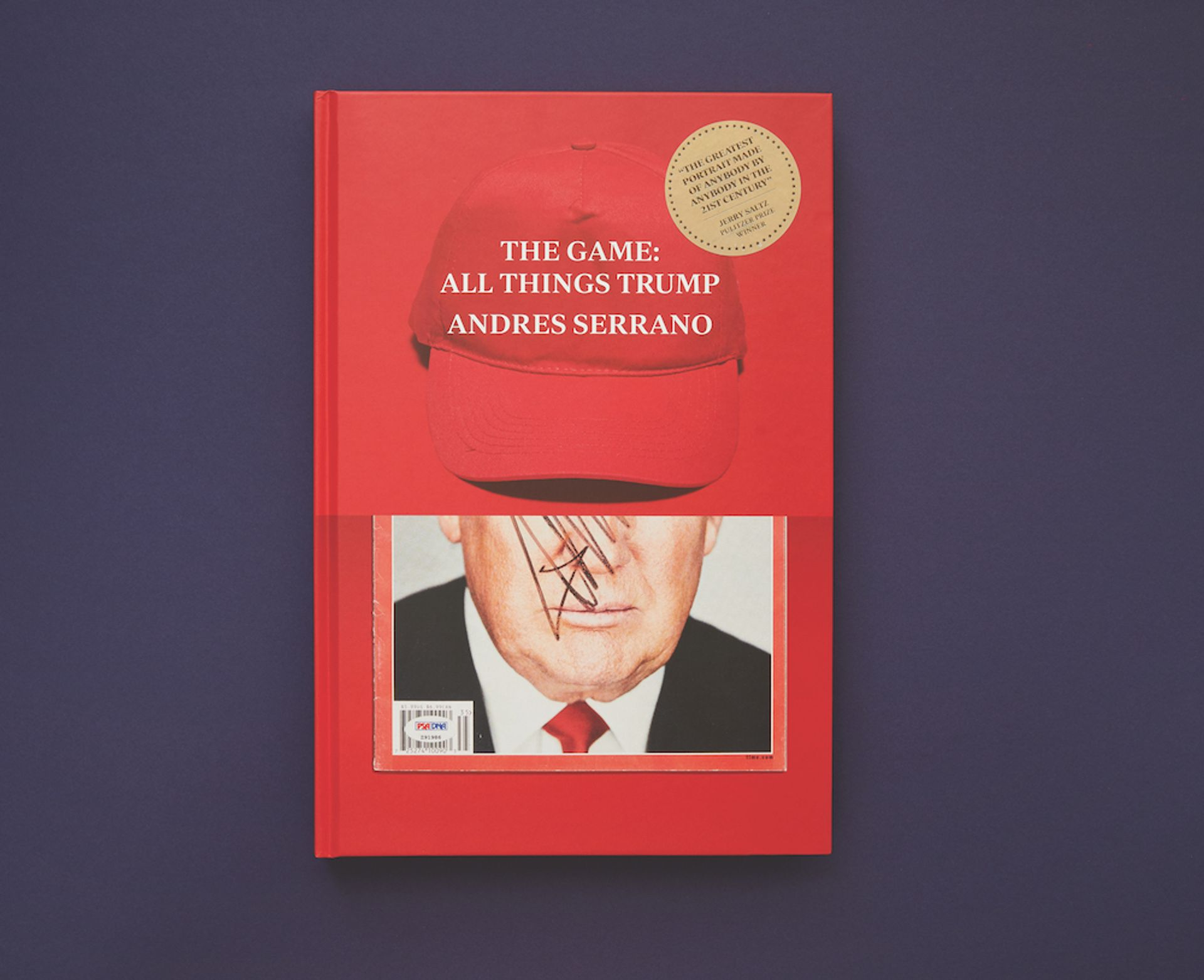 Ego trip: The artist Andres Serrano's book The Game: All Things Trump, published this month, features the artist's collection of objects related to the US president, which he has been acquiring since April 2018 The Game: All Things Trump courtesy of A/Political