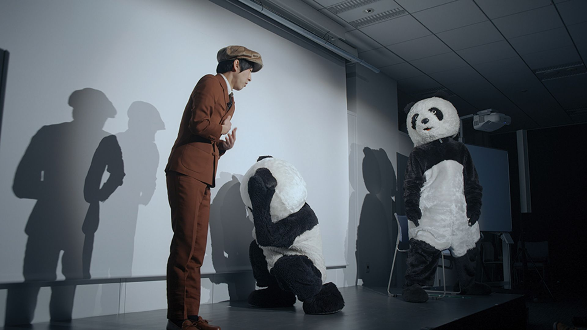 The exhibitors at Taipei Dangdai will include the city's Liang gallery which represents the local artist Hsui Chia-Wei, who created the Zhao Bandi-influenced video installation Black and White–Giant Panda (2018) Courtesy of Taipei Dangdai