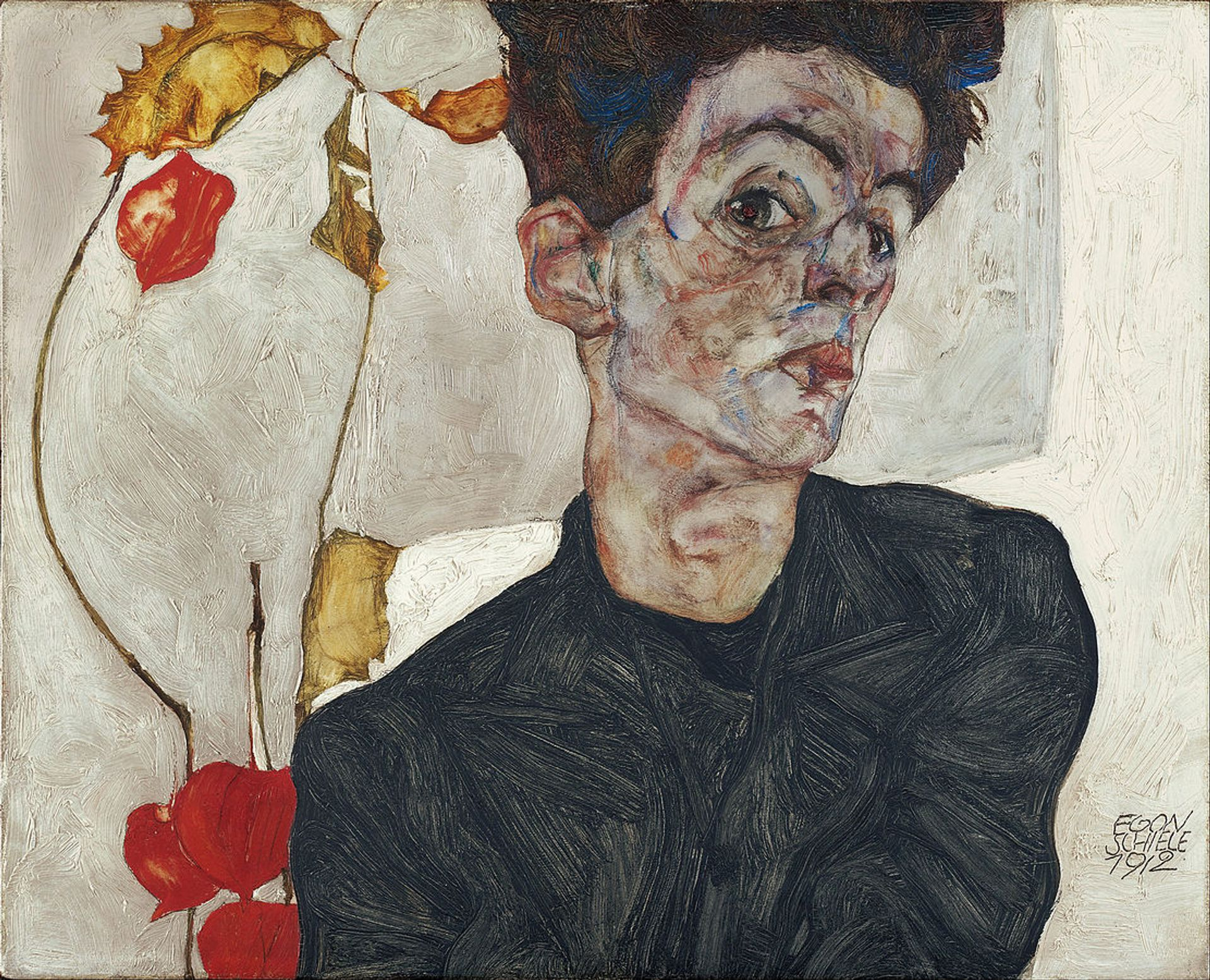 A self-portrait by the Austrian artist Egon Schiele. This painting is not among the disputed works commons.wikimedia.org