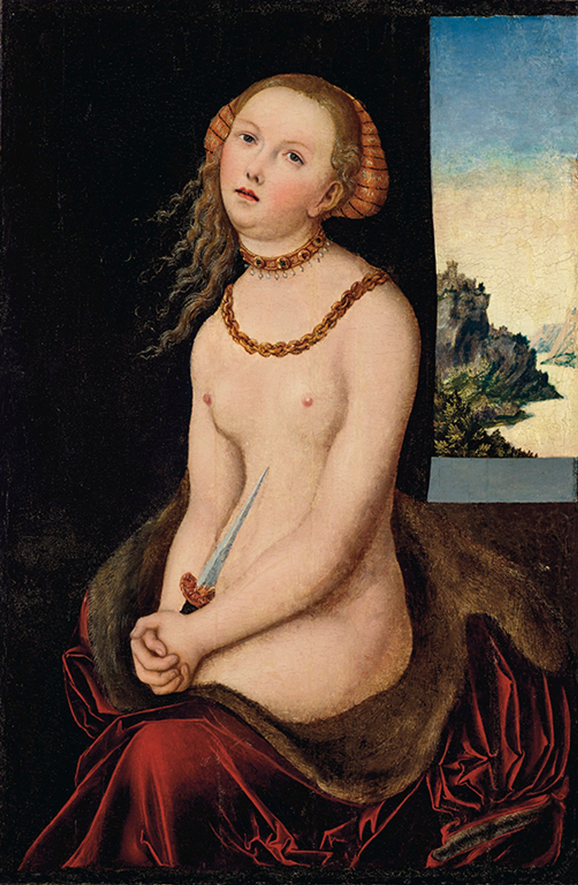 Lucas Cranach the Elder's Lucretia, which is to be auctioned at Christie's on 15 October