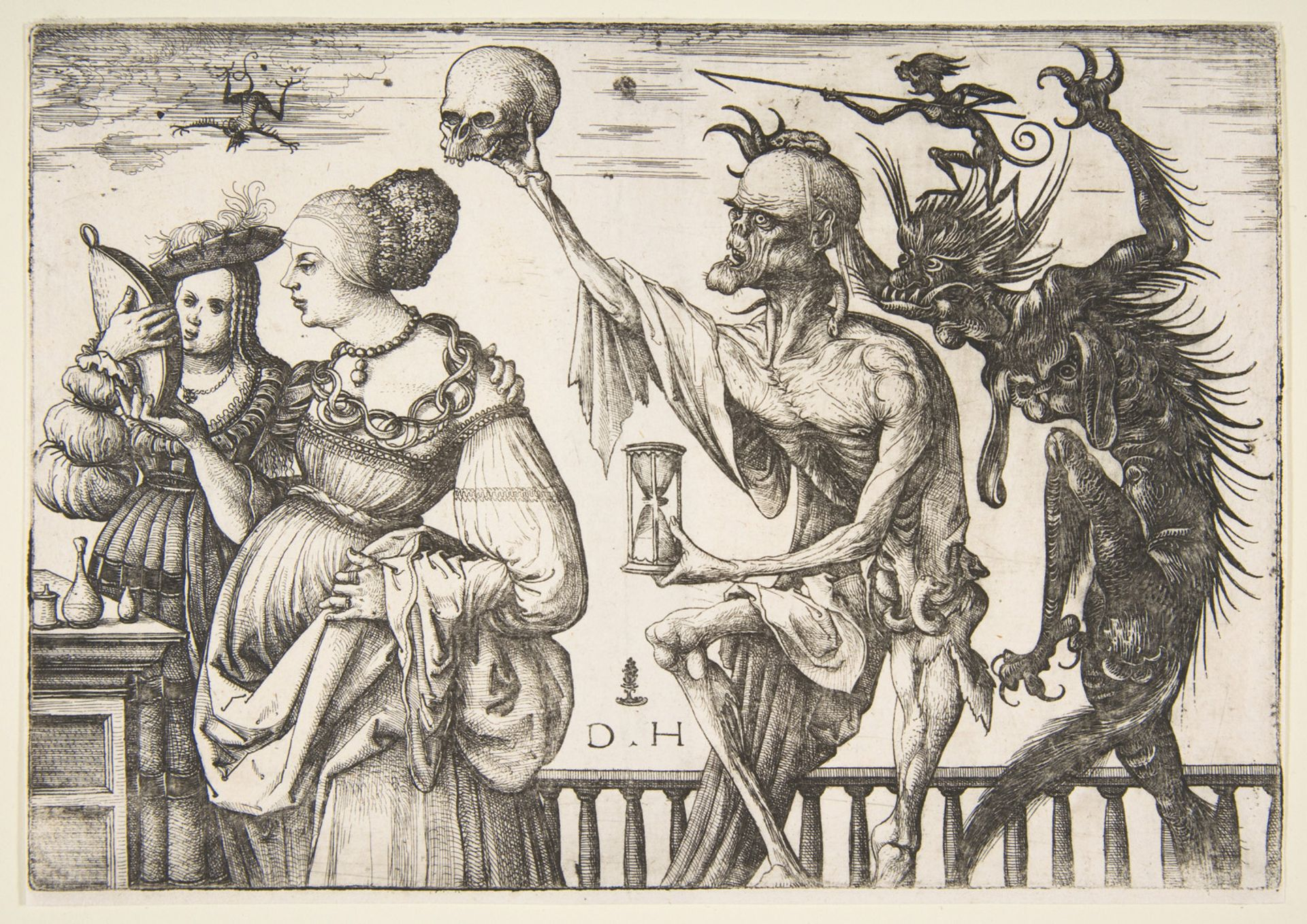 Daniel Hopfer's Death and the Devil Surprising two Women, (ca. 1500–1510)