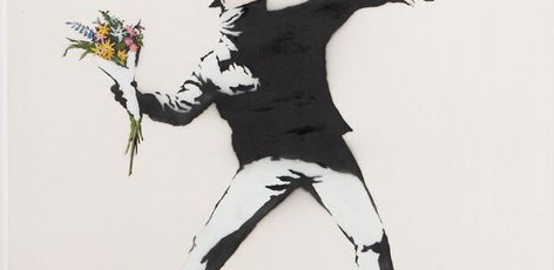Banksy's Flower Thrower Courtesy of Lazinc