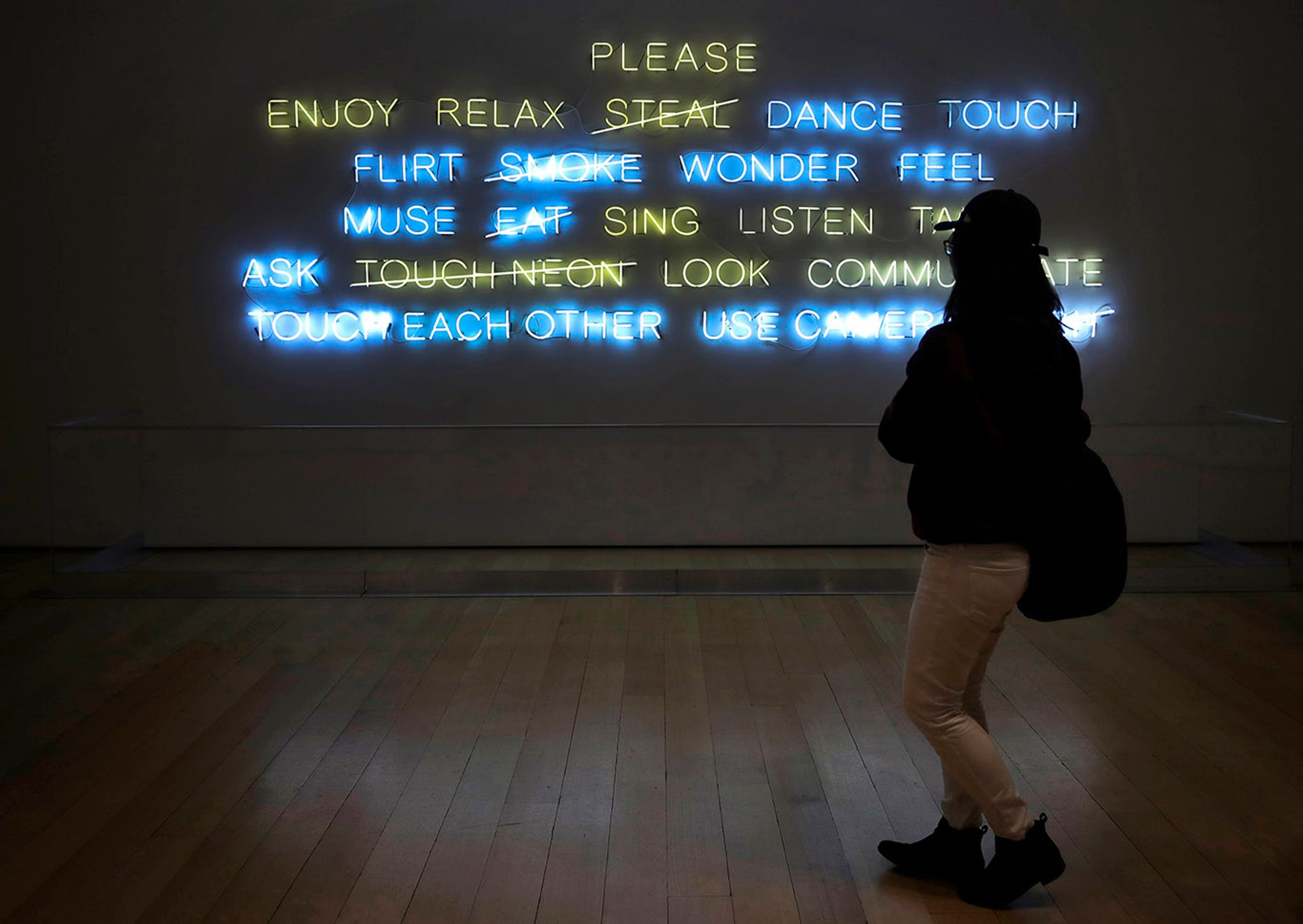 A museum patron entering the Museum of Fine Arts, Boston through its newly updated entrance for school groups. Accusations of racism have led to a change in procedures at the institution Elise Amendola/Associated Press