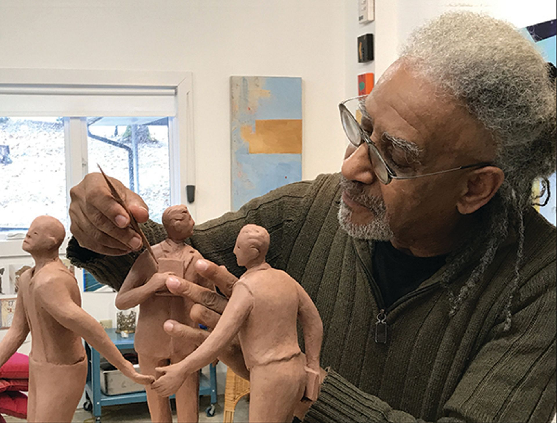 The artist Jerome Meadows in his studio courtesy the artist