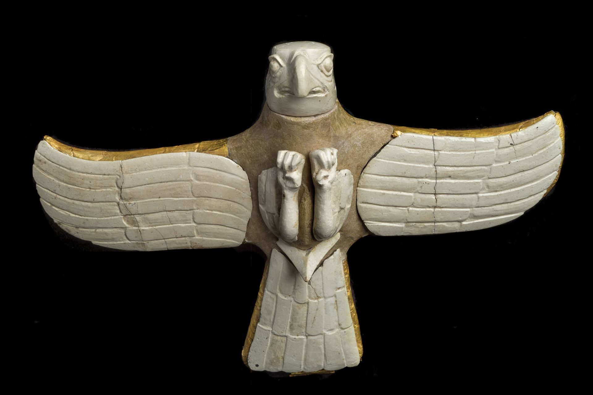 A Bronze Age bird of prey figure from the royal necropolis at Gonur Tepe State Museum of Turkmenistan, Ashgabat; © Staatliche Museen zu Berlin