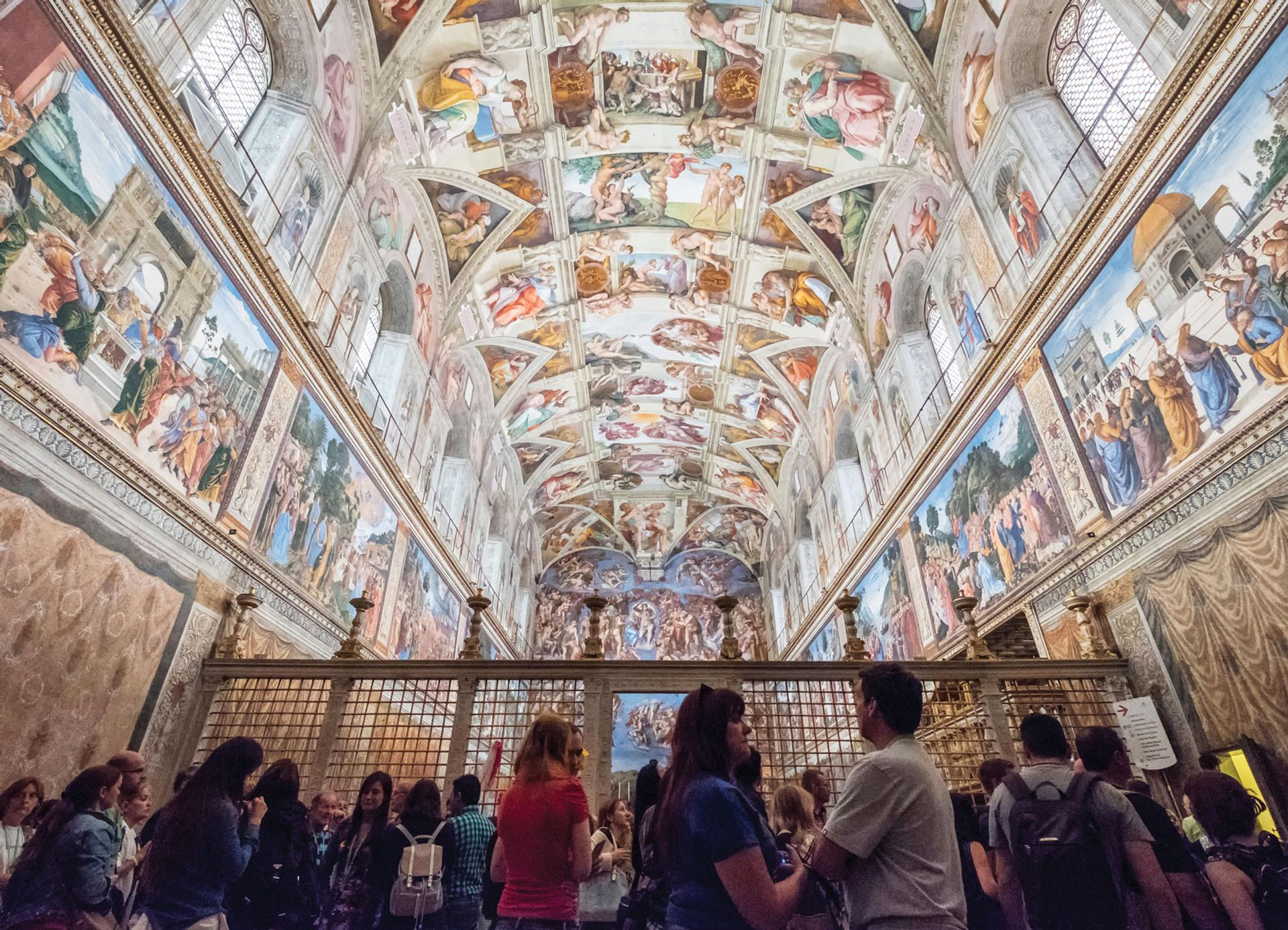 The event marked the tenth anniversary of the conservation services that allow the Sistine Chapel to go on receiving six million visitors a year Urbanmyth/Alamy