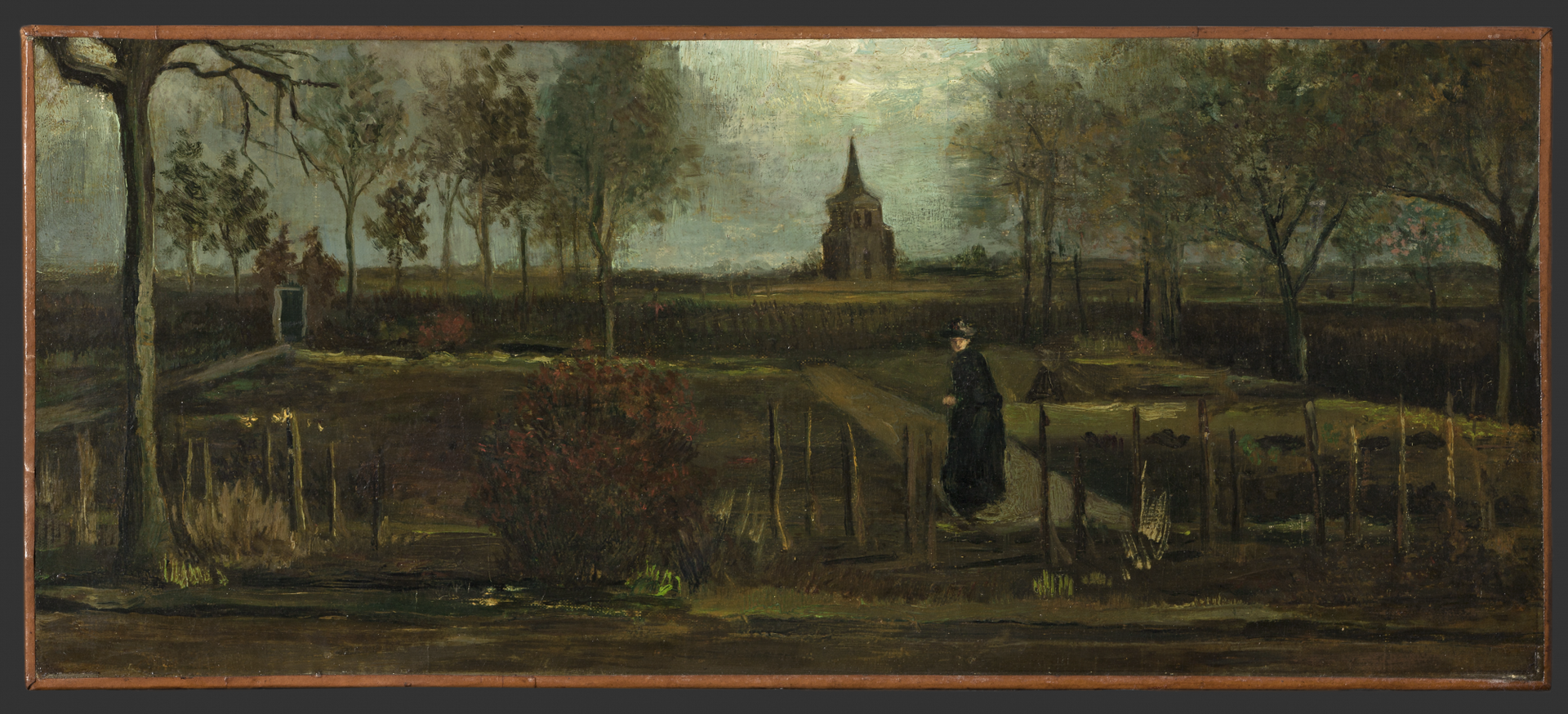 Vincent van Gogh's The Parsonage Garden at Nuenen in Spring (1884) © Groninger Museum, on loan from Municipality of Groningen