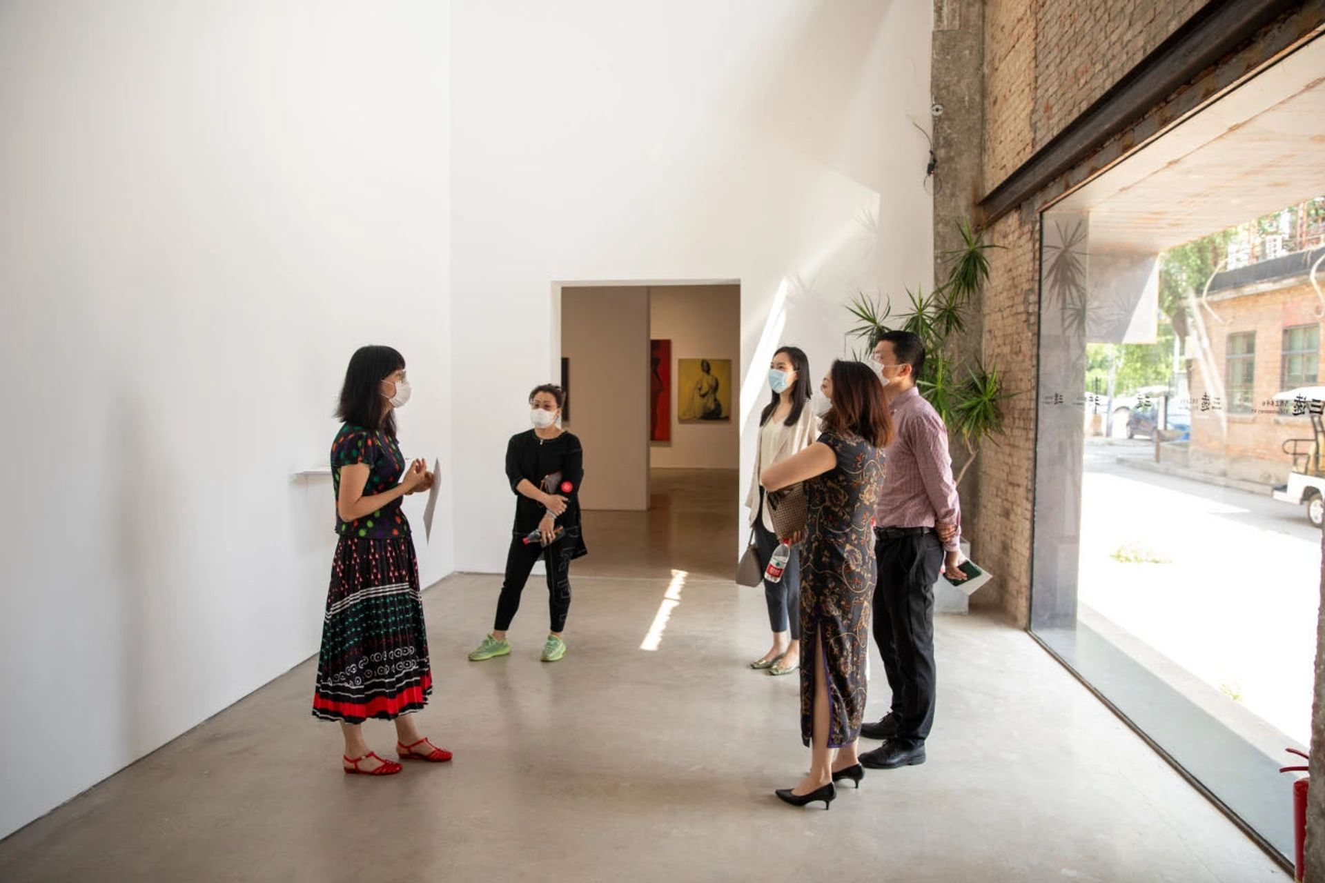 Visitors tour one of the exhibitions during GWBJ Courtesy of Gallery Weekend Beijing