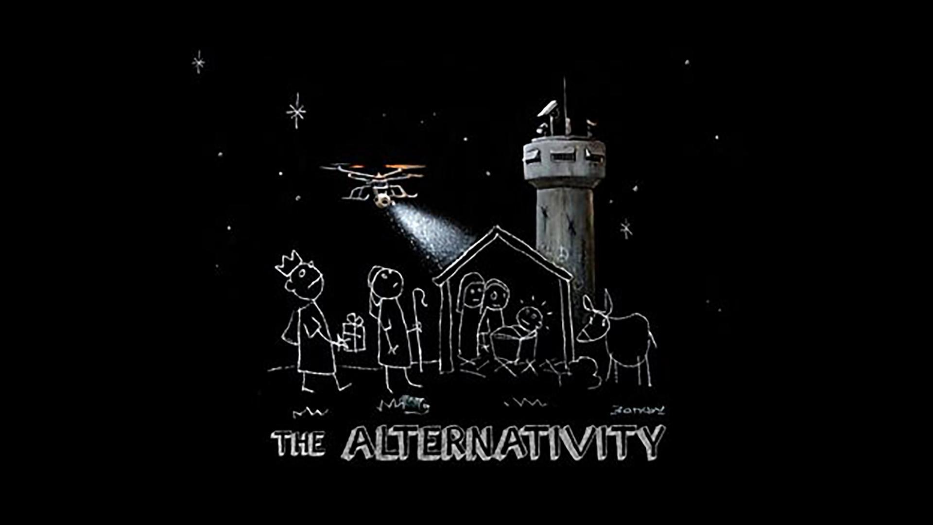 The Alternativity will air on Sunday, 17 December 2017, on BBC Two BBC/Banksy