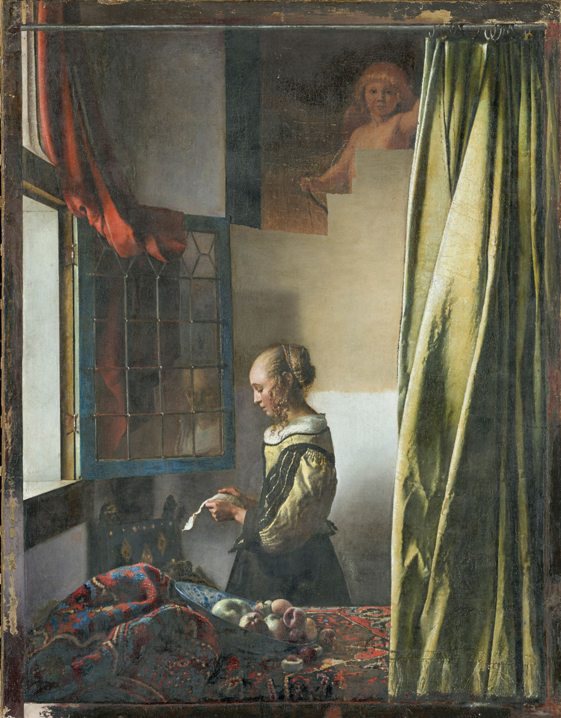 Vermeer's Cupid is now partially revealed in Girl Reading a Letter at an Open Window Wolfgang Kreische