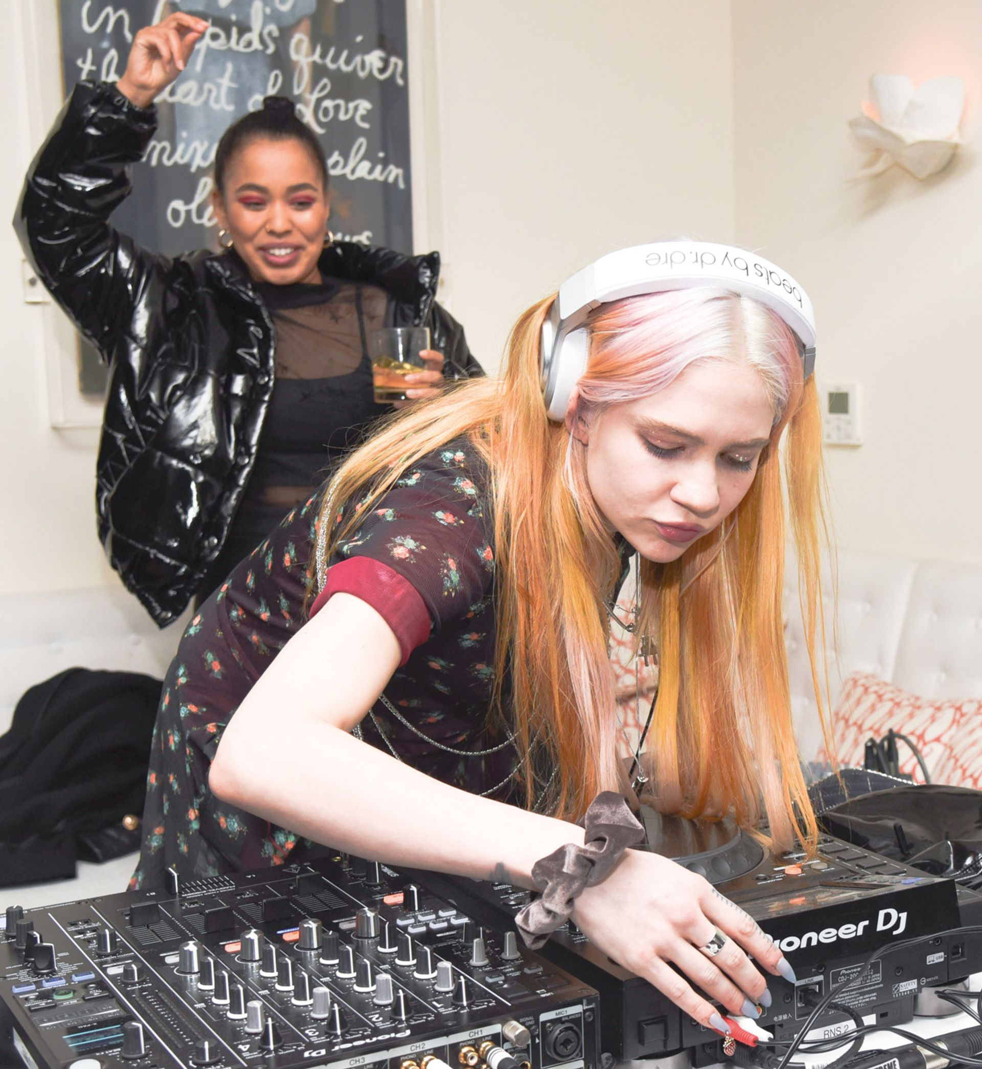 Grimes gets into the groove at the James Turrell party BFA