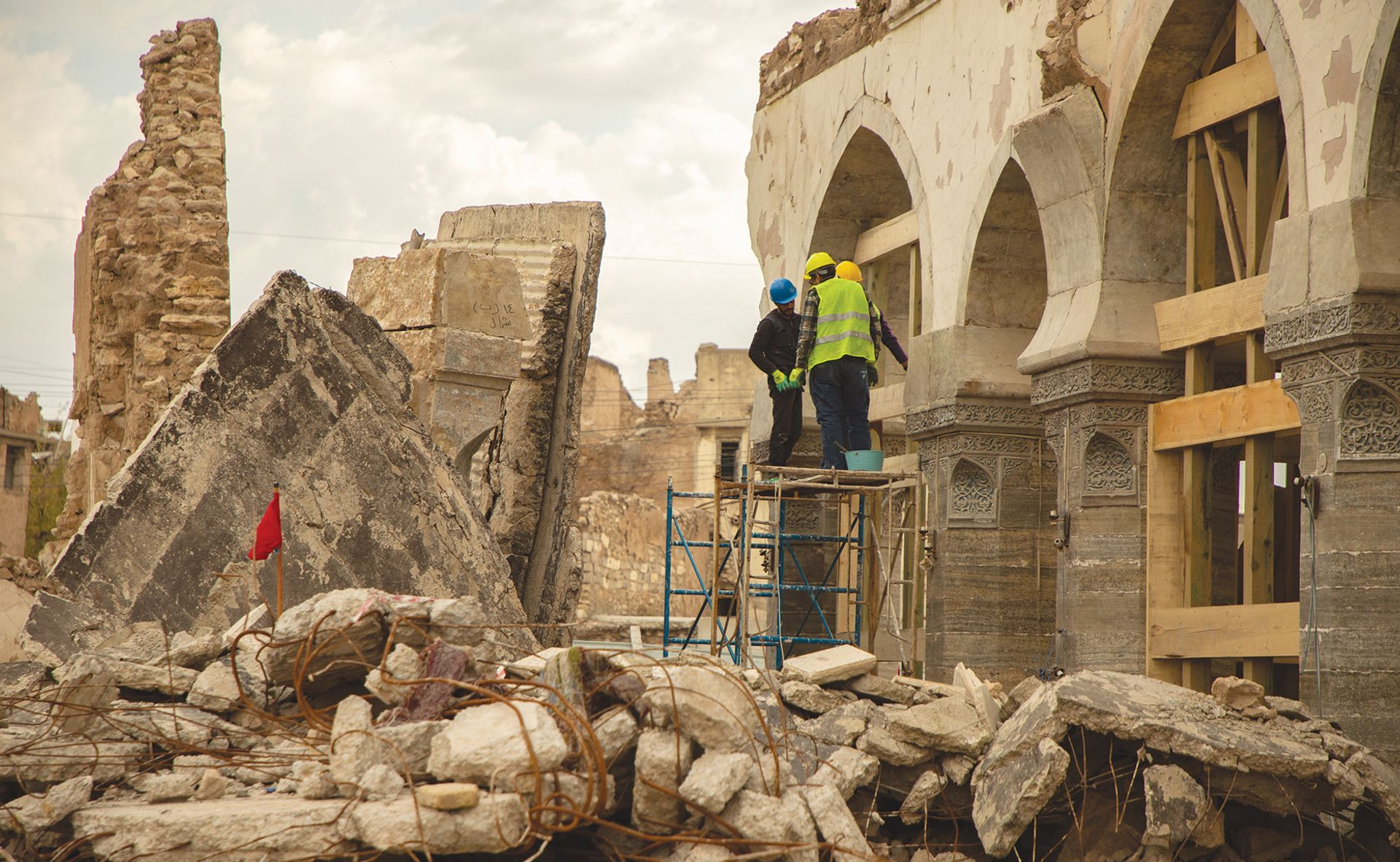 The Unesco-led projects include restoring Al-Nuri mosque, which was damaged when Islamic State was ousted from Mosul in 2017 Photo: © Unesco/Moamin Al-Obaidi