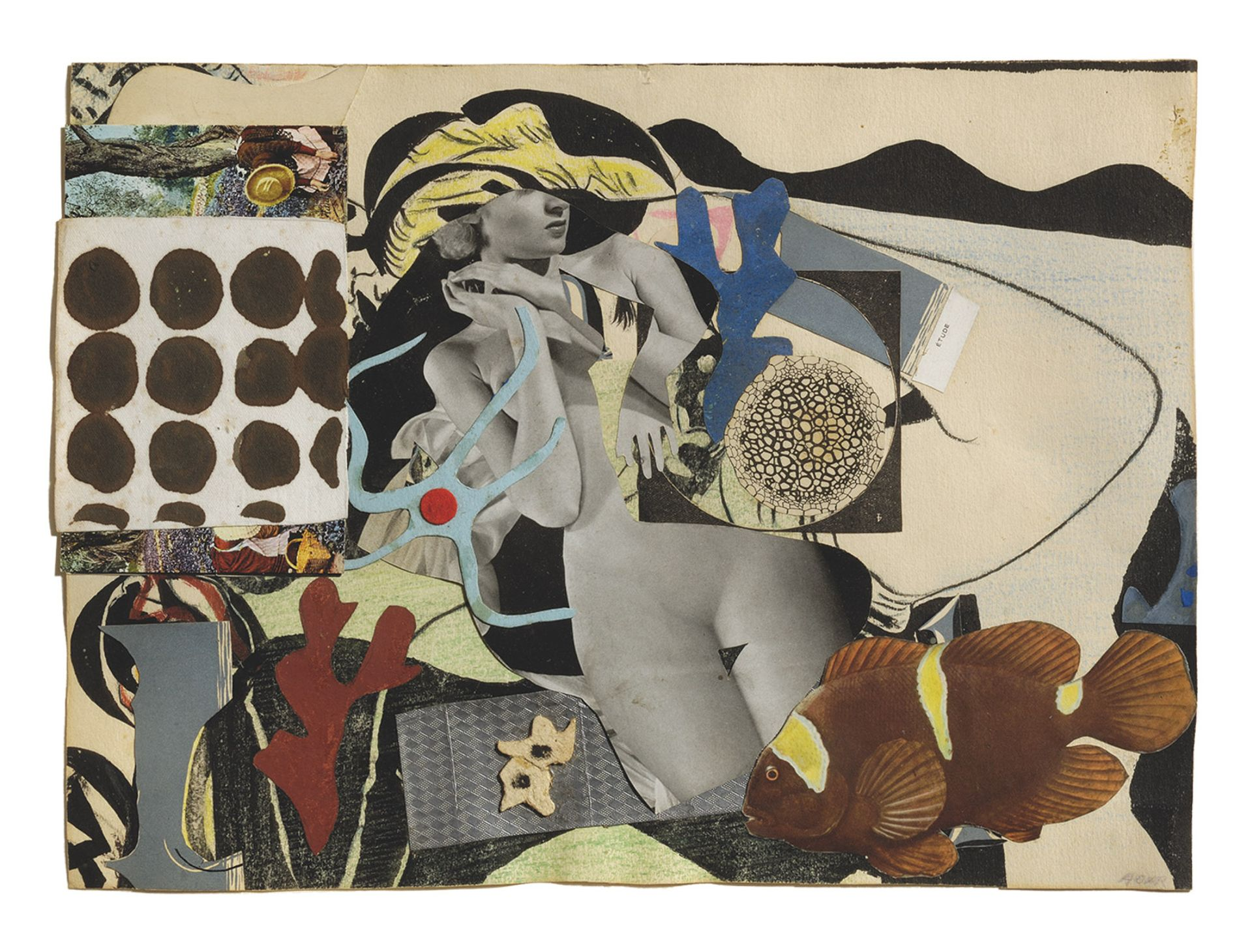 In works such as the collage Erotic Landscape (1942), Eileen Agar was able  to take control of her own image © Estate of Eileen Agar/Bridgeman Images Photograph courtesy Pallant House Gallery; Chichester © Doug Atfield.