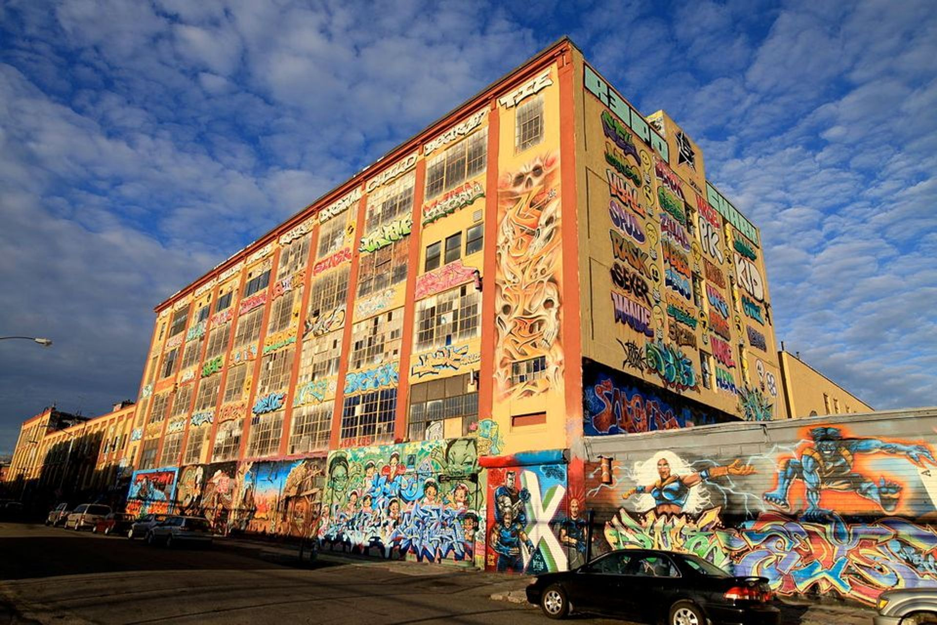 Street art on the 5Pointz complex in Long Island City, Queens that was later whitewashed by a developer