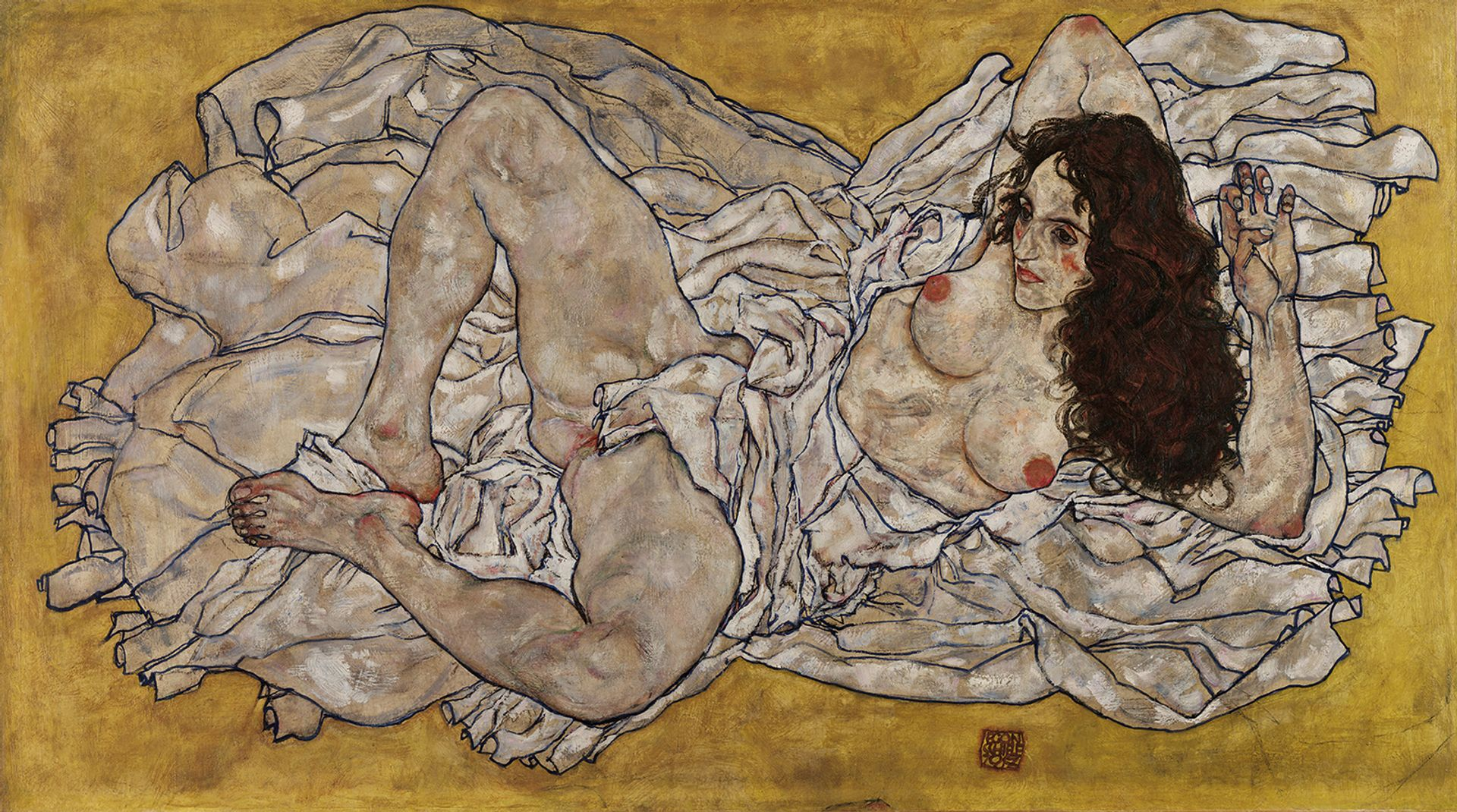Egon Schiele's Reclining Woman (1917) Leopold Museum/Manfred Thumberger