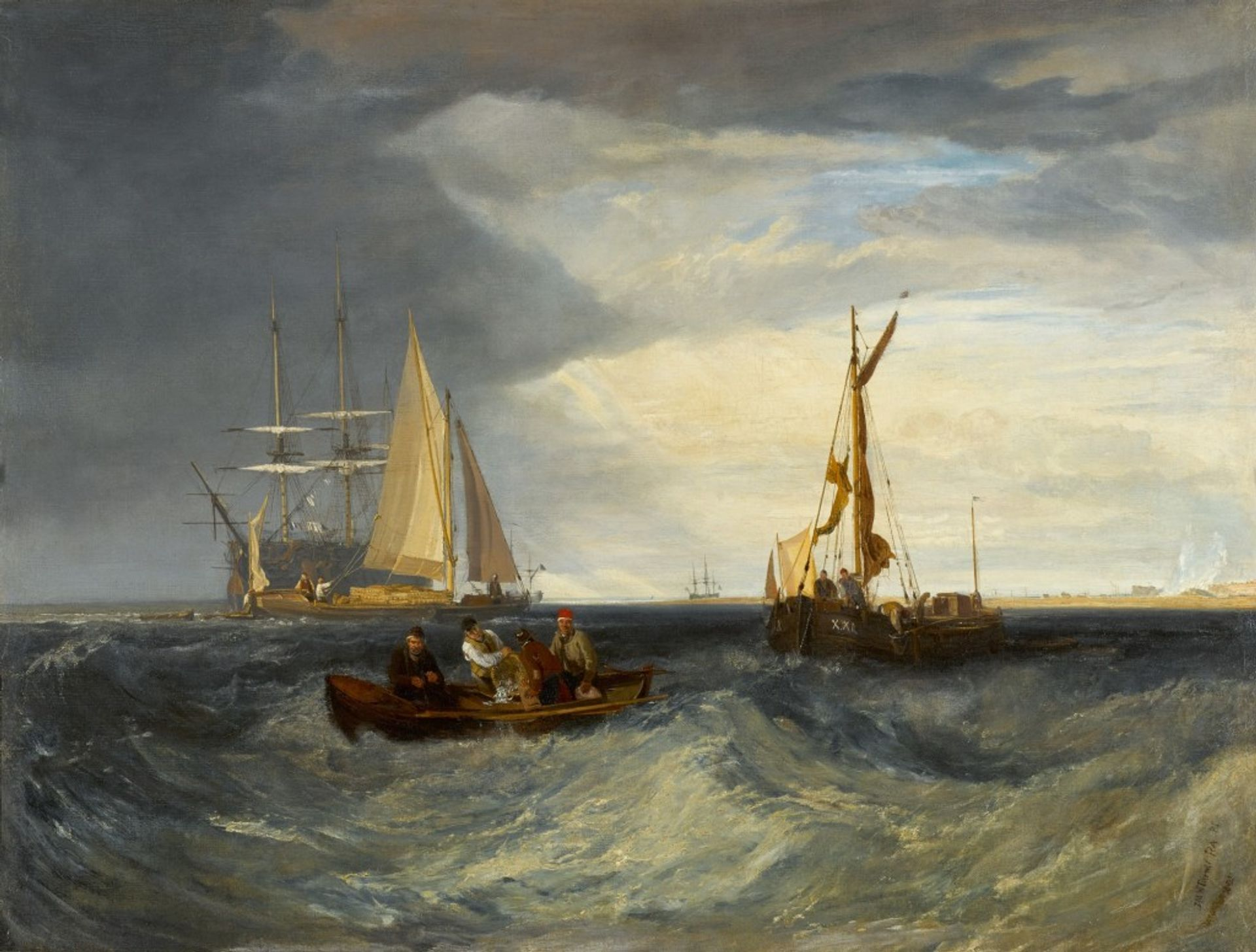 Turner's Purfleet and the Essex Shore as seen from Long Reach Courtesy of Sotheby's