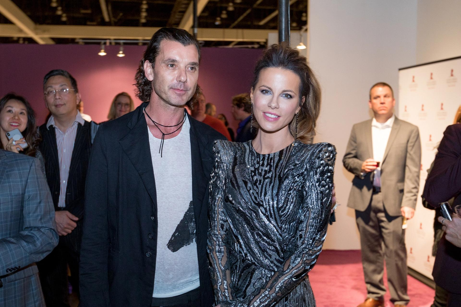 Gavin Rossdale and Kate Beckinsale at the LA Art Show