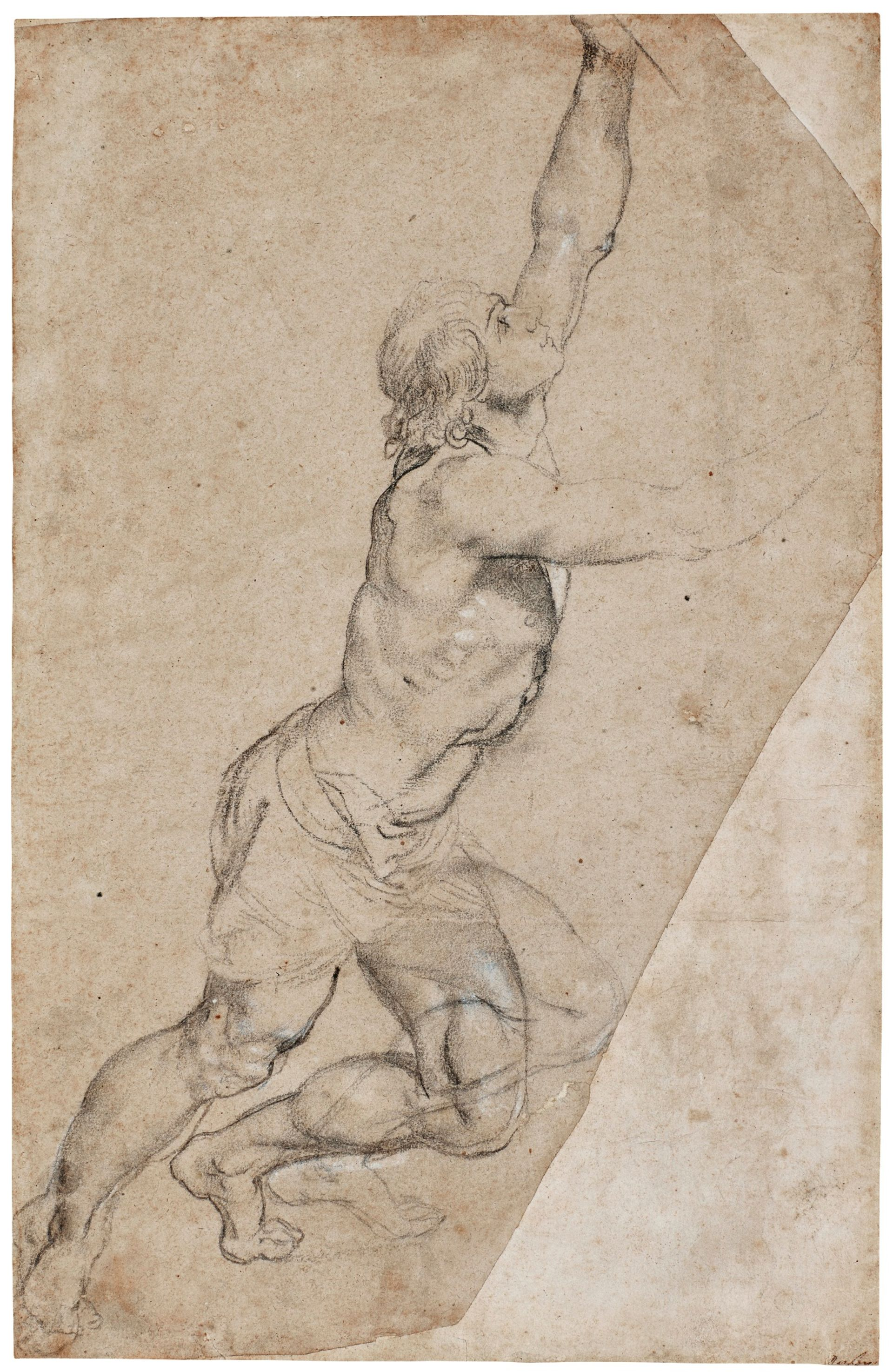 Peter Paul Rubens, Nude Study of a Young Man With Raised Arms © Sotheby's