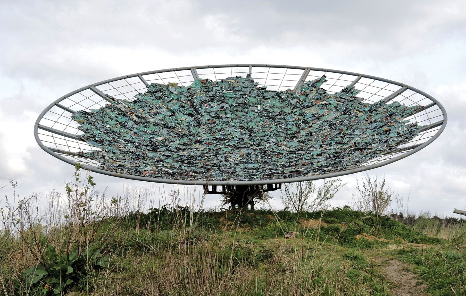 Cosmic Connection (2016) by Maarten Vanden Eynde. The Belgian artist will exhibit in Riga this month Courtesy of the artist and the Verbeke Foundation, Kemzeke, Belgium