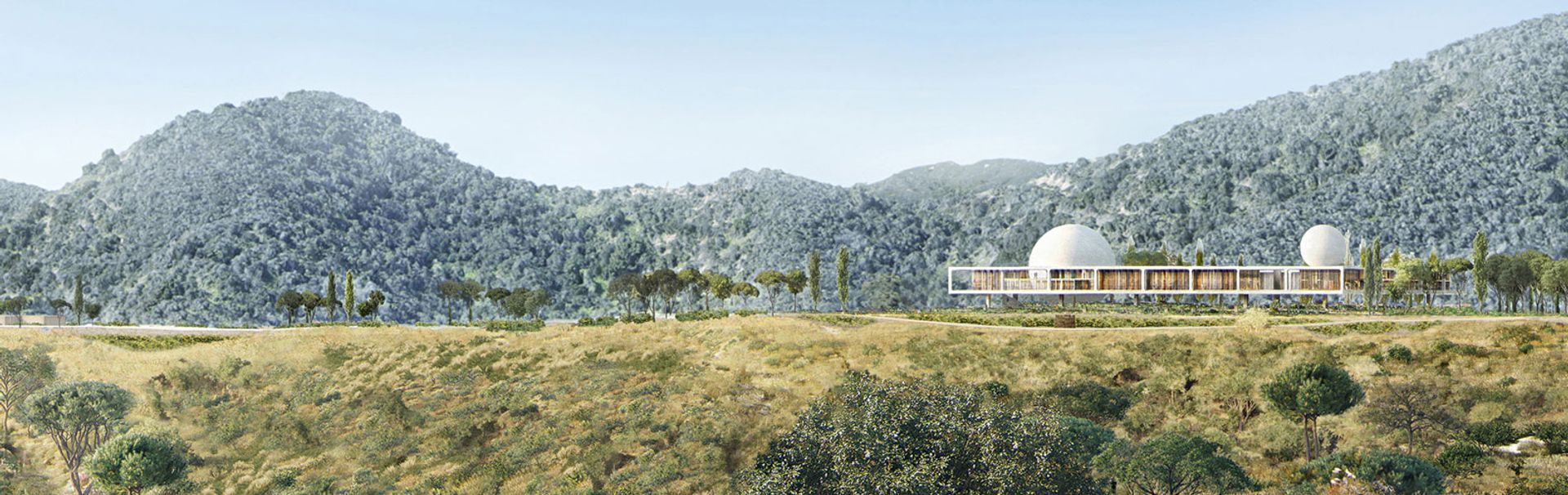 A rendering of the planned Berggruen Institute in the Santa Monica Mountains