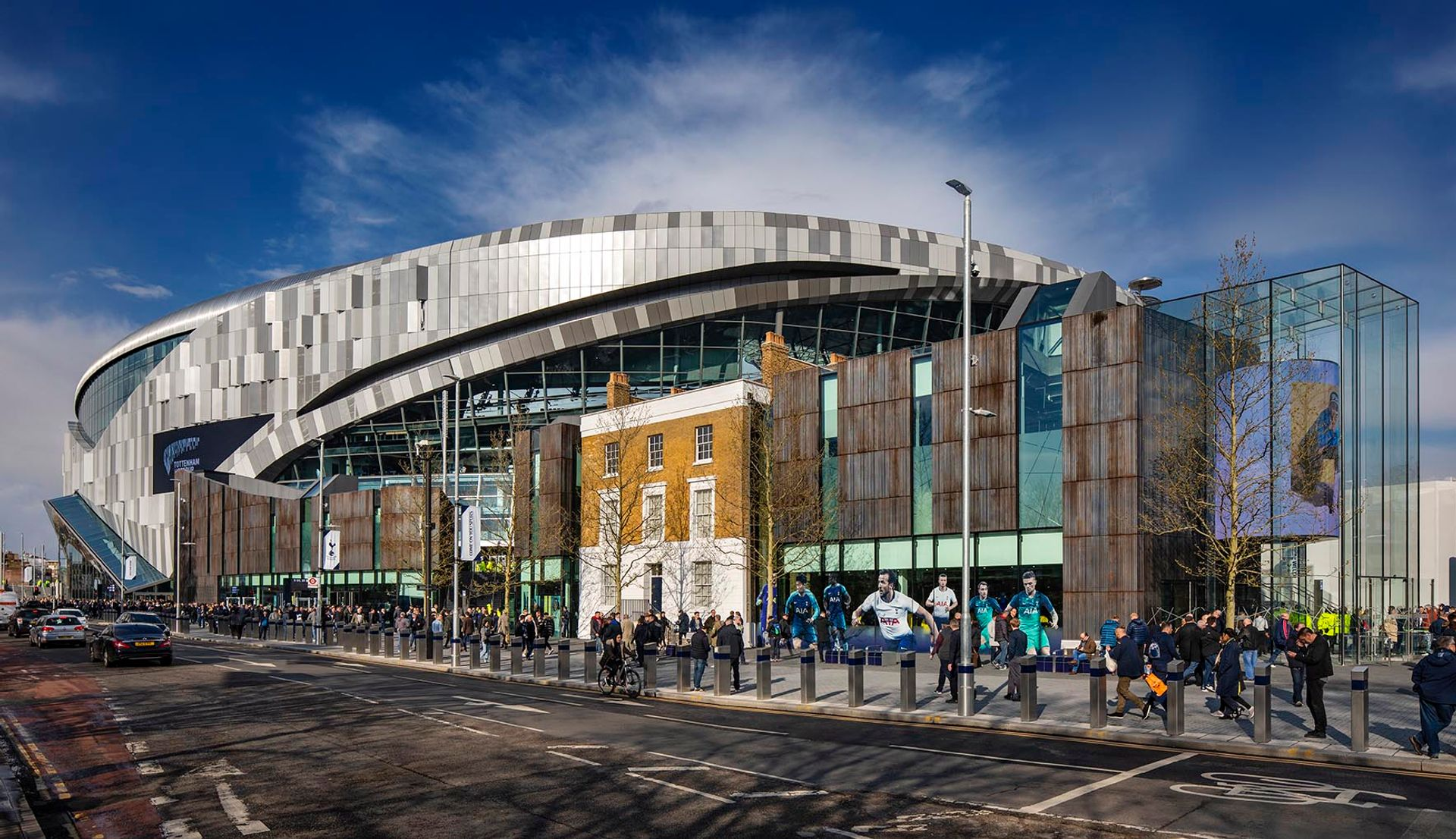 OOF gallery will be housed in a Grade II-listed building on the grounds of Tottenham Hotspur Stadium © Edward Hill photography/F3 Architects