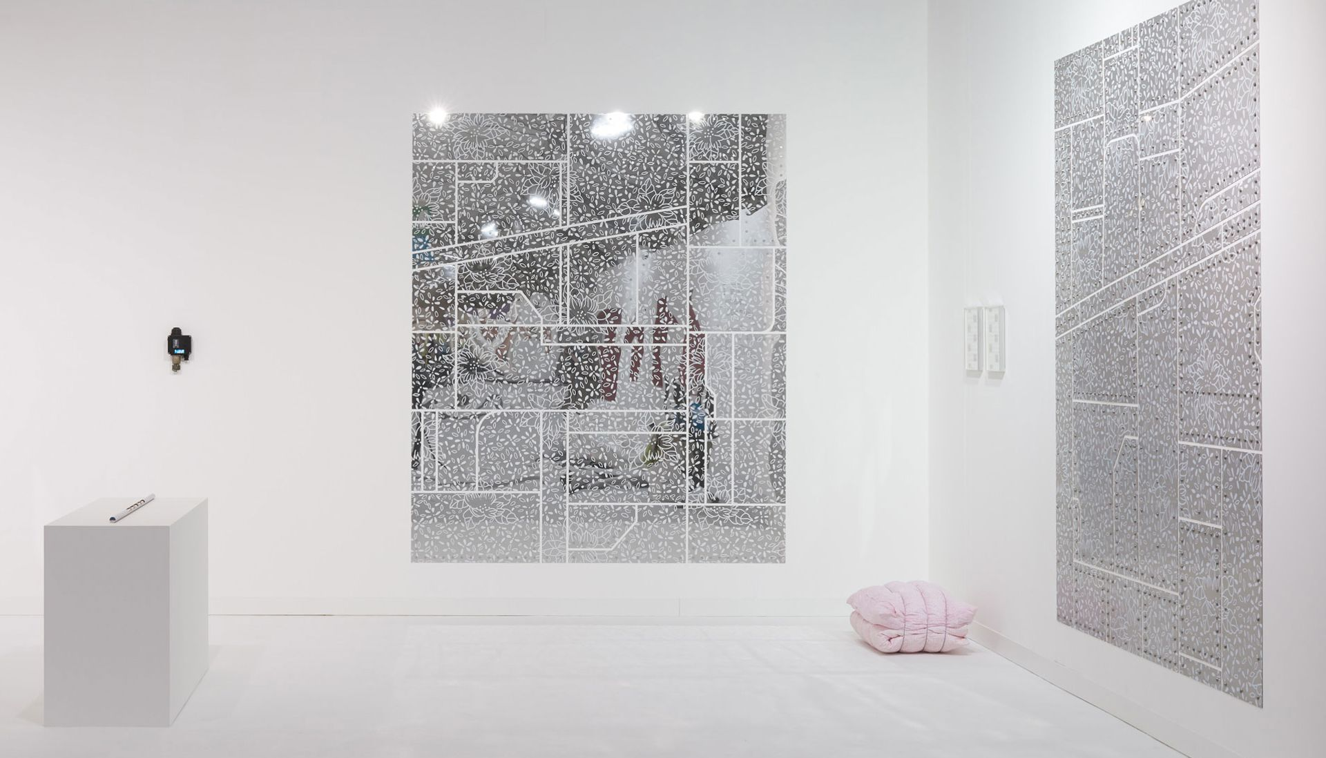 Works by Sung Tieu at the Emalin gallery stand of Frieze London Photo: Theo Christelis