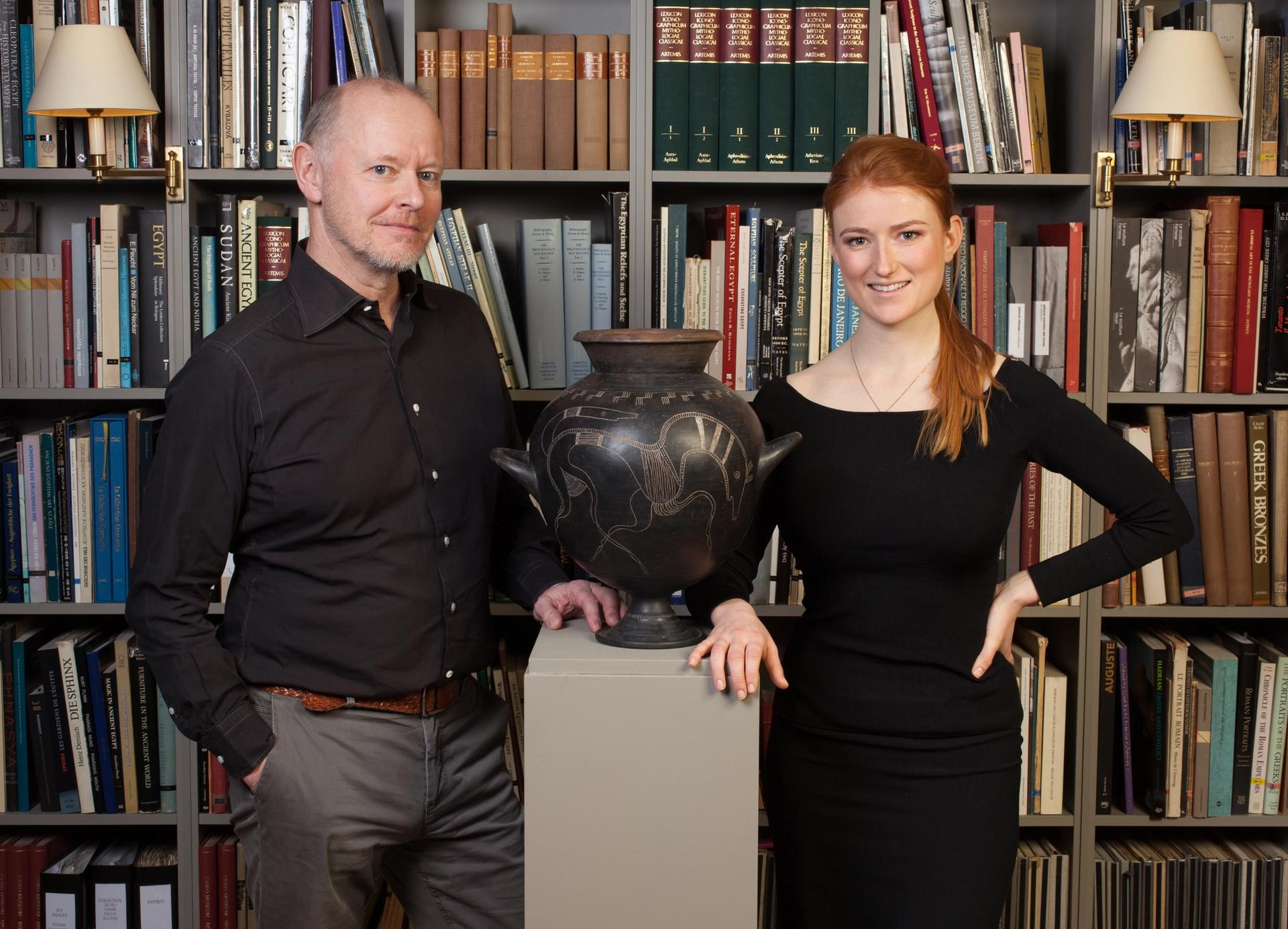 Martin Clist and Charis Tyndall  Courtesy of Charles Ede