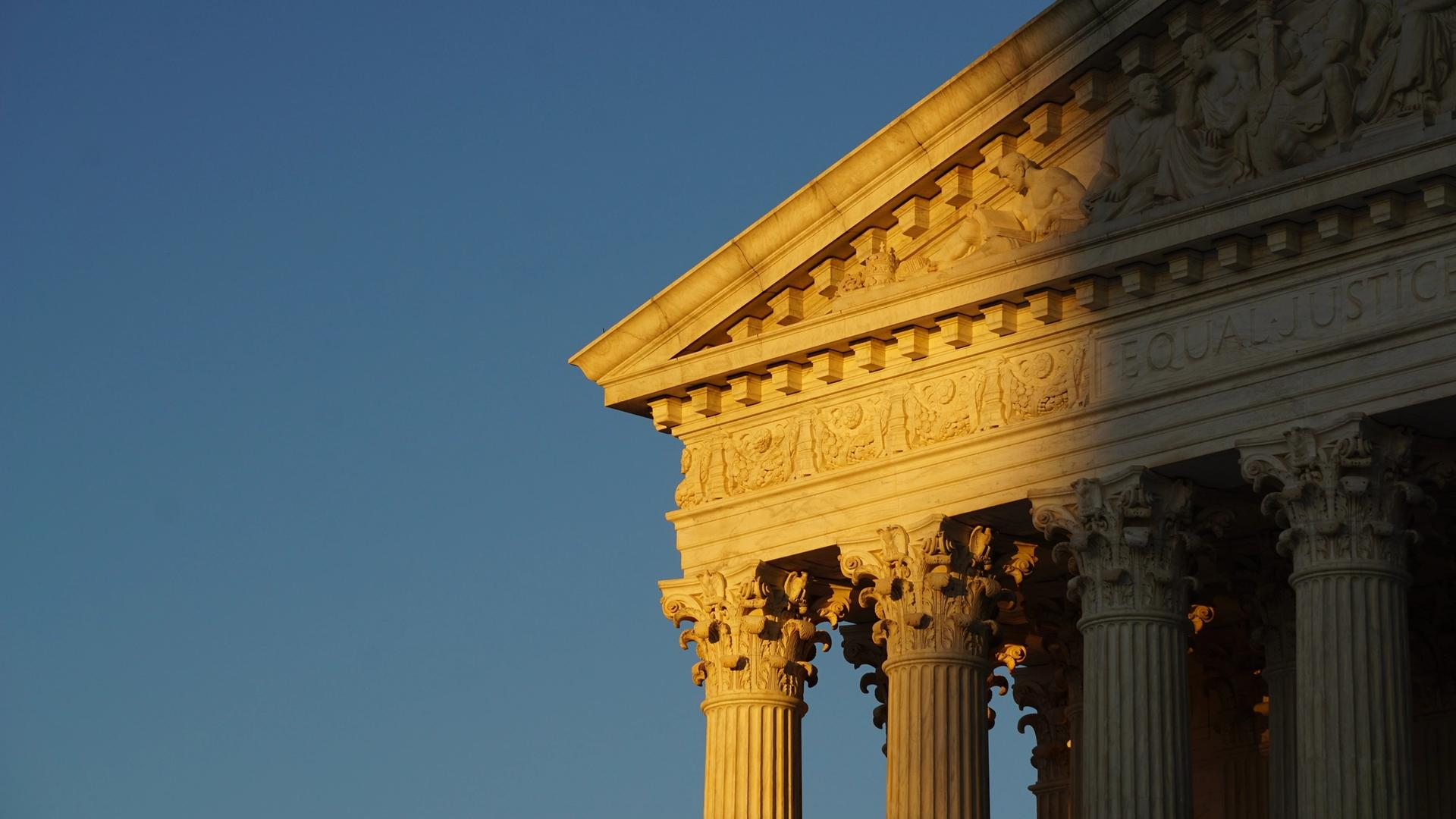 The front façade of the Supreme Court of the United States in Washington, DC Photo: Ian Hutchinson on Unsplash