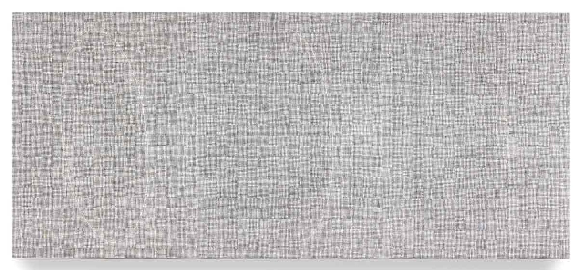 McArthur Binion's monumental painting DNA: Transition (2018)