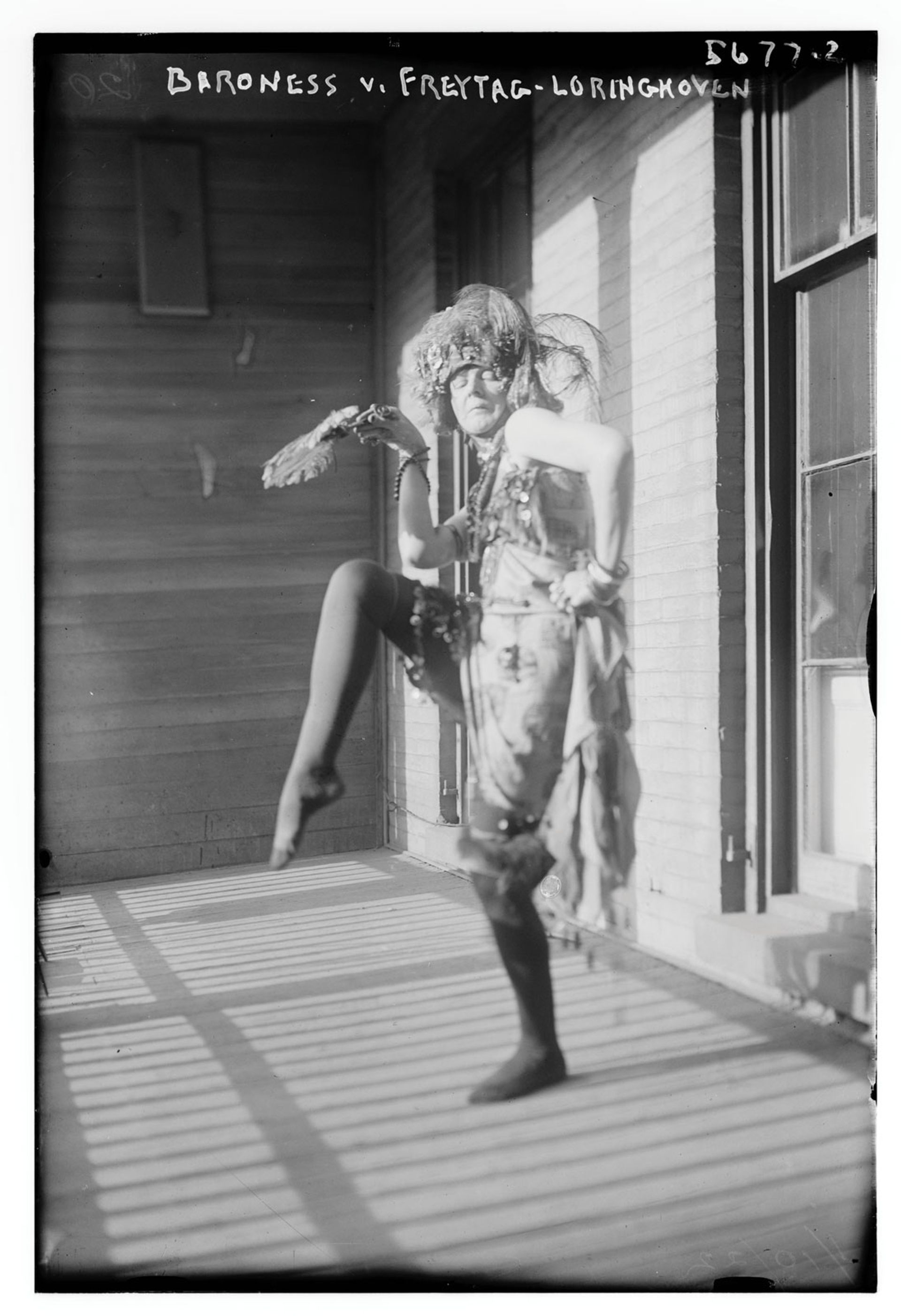 Baroness Elsa von Freytag-Loringhoven pictured around 1920-25 © Bain News Service photograph collection/American Library of Congress
