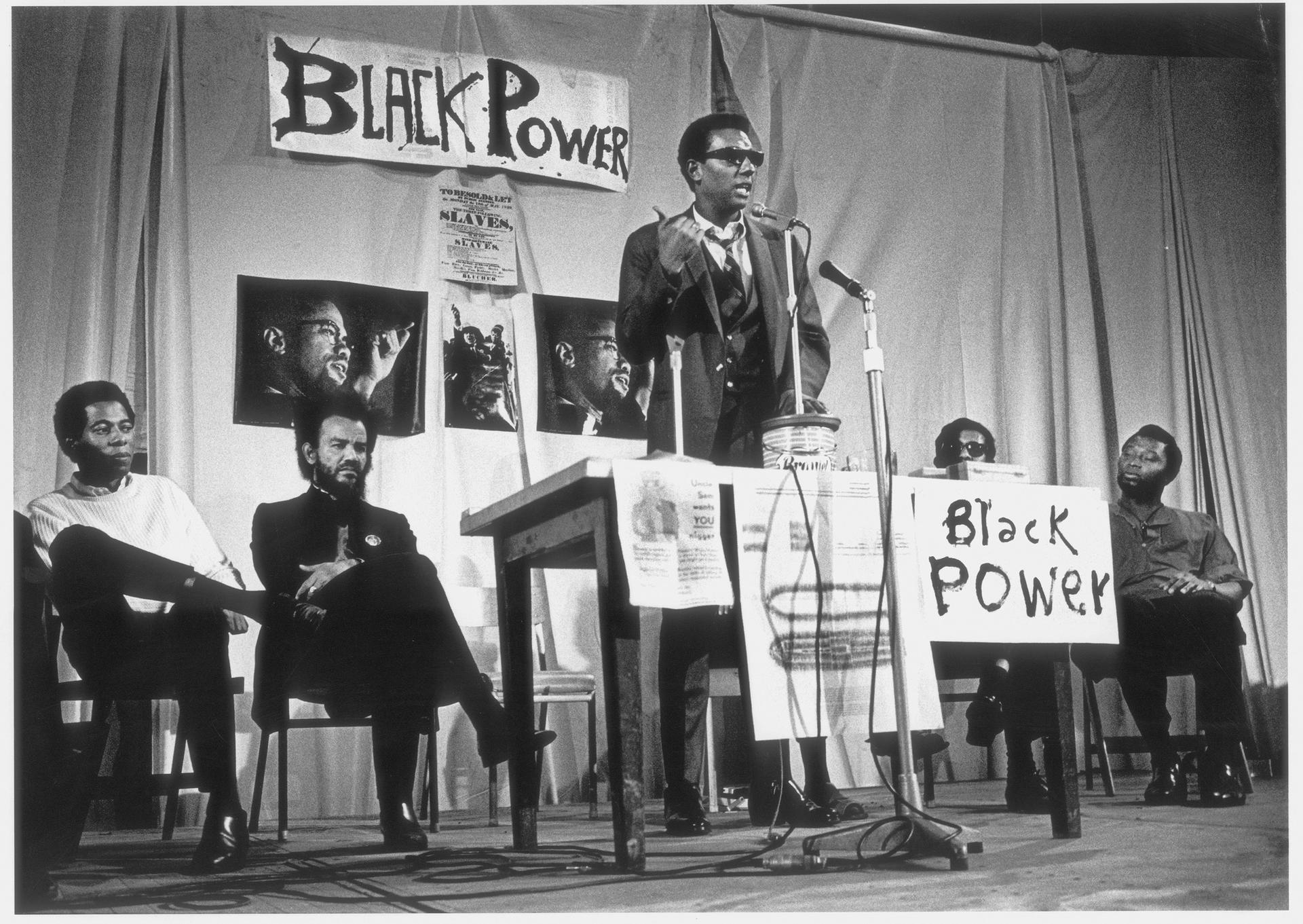 Trinidad-born British photographer Horace Ové's image of US civil rights activist Stokely Carmichael speaking at The Dialectics of Liberation Congress at London's Roundhouse in 1967 Courtesy Horace Ové Archives; © Horace Ové