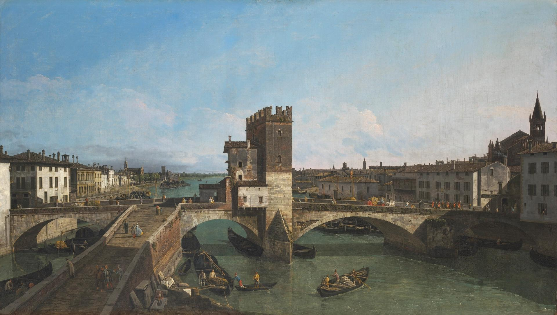 Bernardo Bellotto's View of Verona with the Ponte delle Navi Courtesy of Christie's