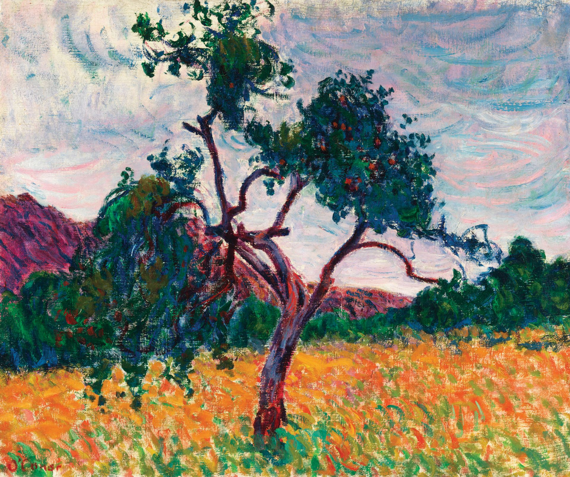 Roderic O'Conor's A Tree in a Field (around 1894) owes a great deal to Van Gogh's Provençal pictures Photo: Roy Hewson