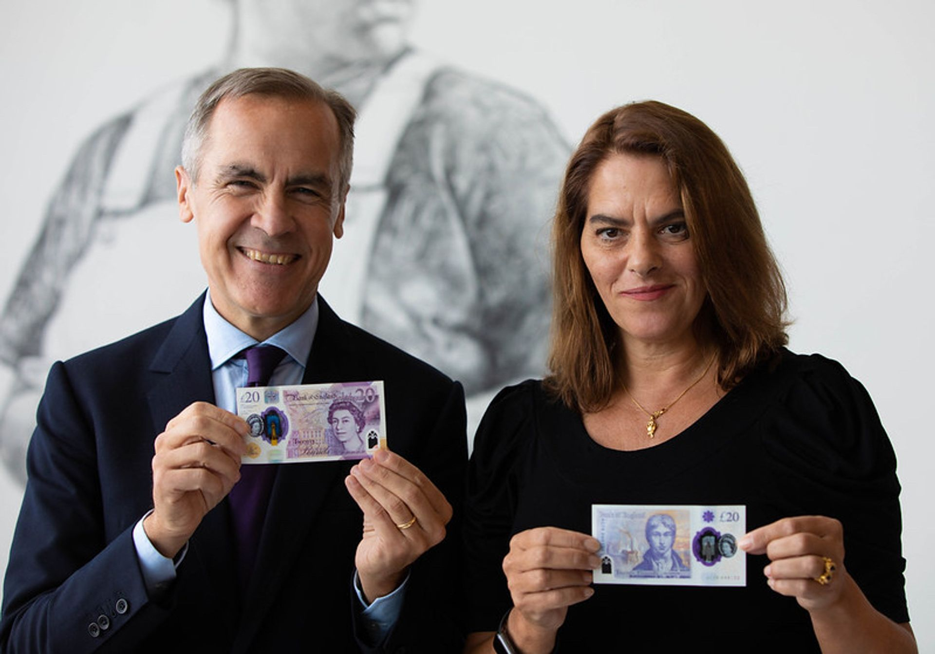 Mark Carney and Tracey Emin © Bank of England (2019)