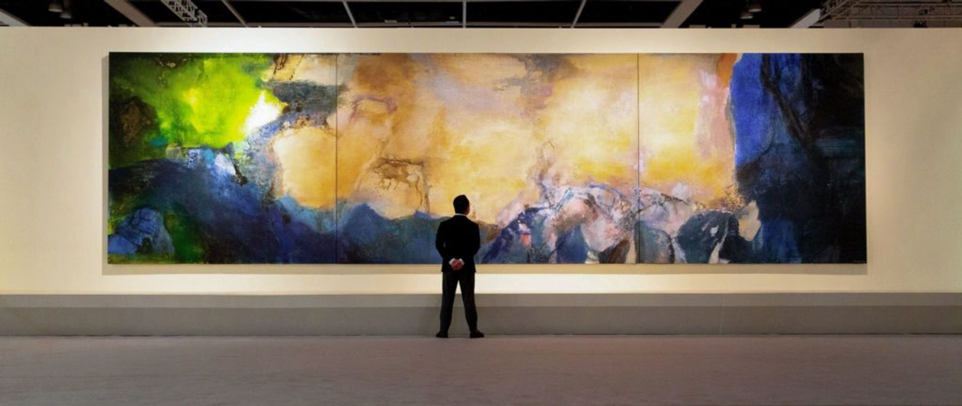 Zao Wou-Ki's triptych, Juin-Octobre 1985, set three records at Sotheby's Hong Kong when it sold for $65m in October 2018. Sotheby's