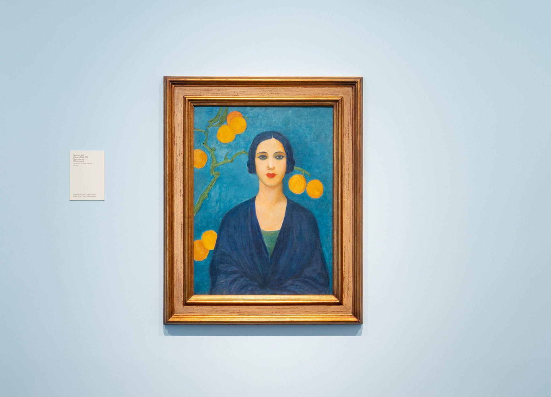 Tarsila do Amaral's Blue Figure (1923) in the Museum of Art of São Paulo Assis Chateaubriand's retrospective of the artist Eduardo Ortega