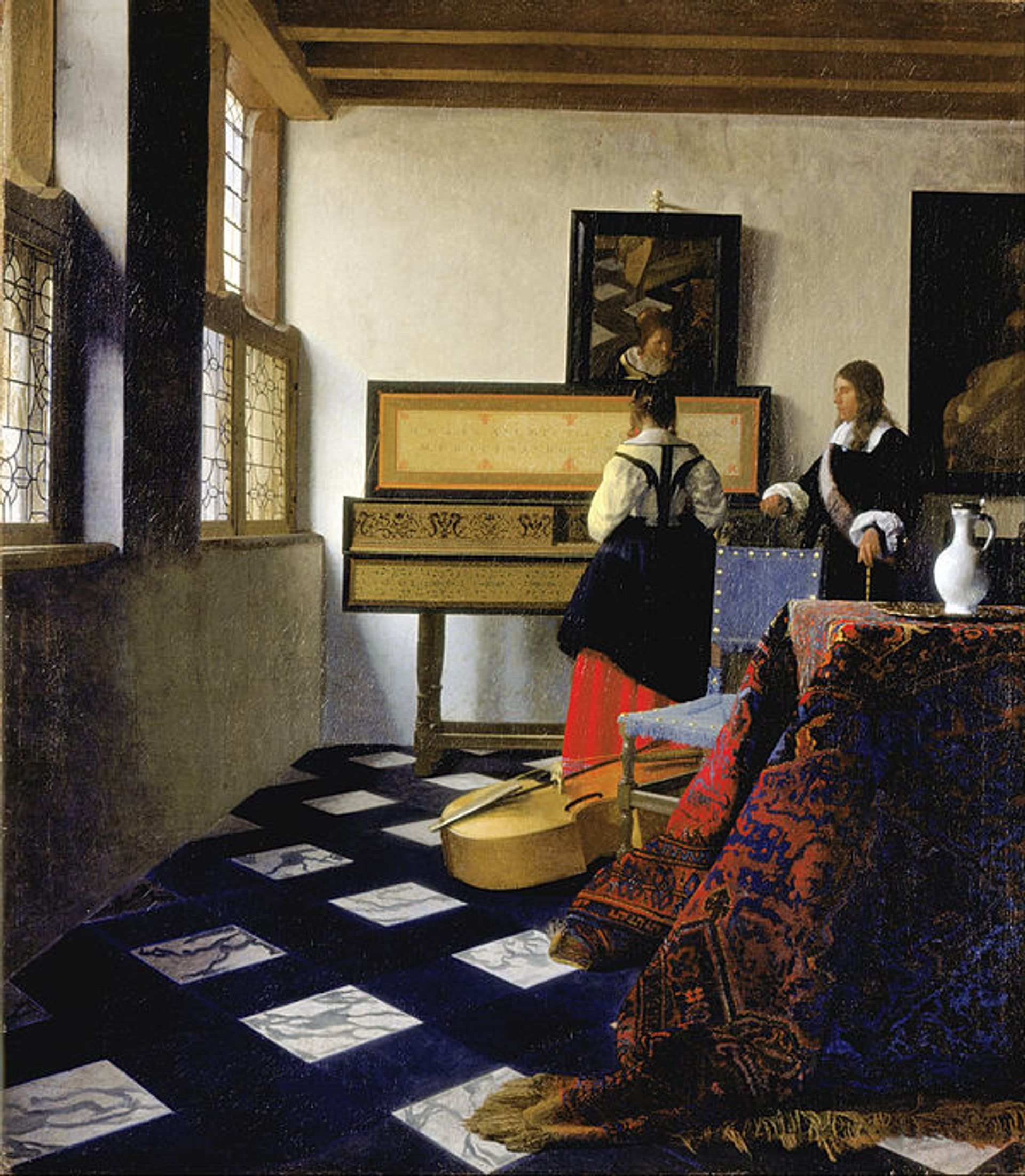 Johannes Vermeer's The Music Lesson (1662–65) is one of 65 works from the Royal Collection to feature in an upcoming exhibition at the Queen's Gallery The Royal Collection