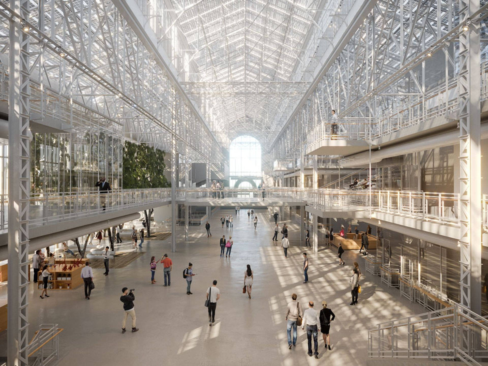 Rendering of GES2, V-A-C's Renzo Piano-designed contemporary art space in a former power station Renzo Piano Building Workshop
