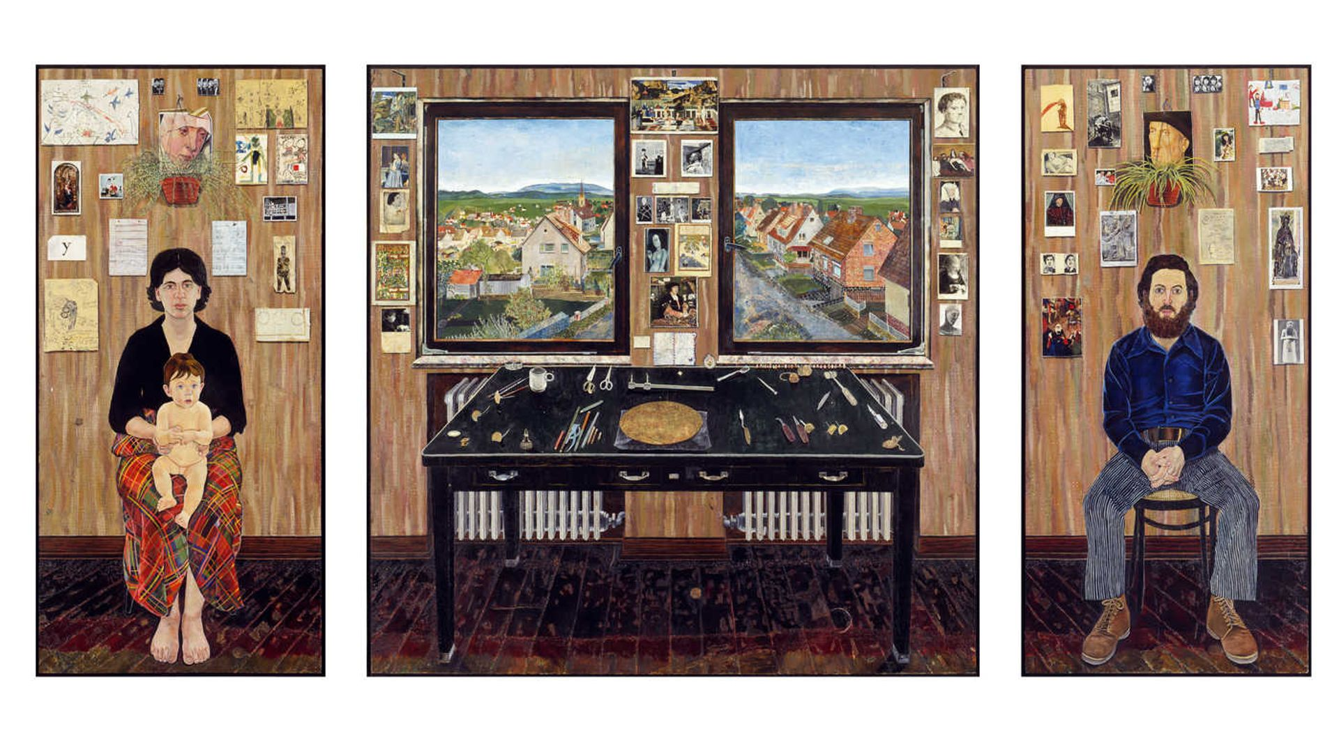 Simon Dinnerstein, The Fulbright Triptych (1971‐74) Collection of the Palmer Museum of Art, Pennsylvania State University