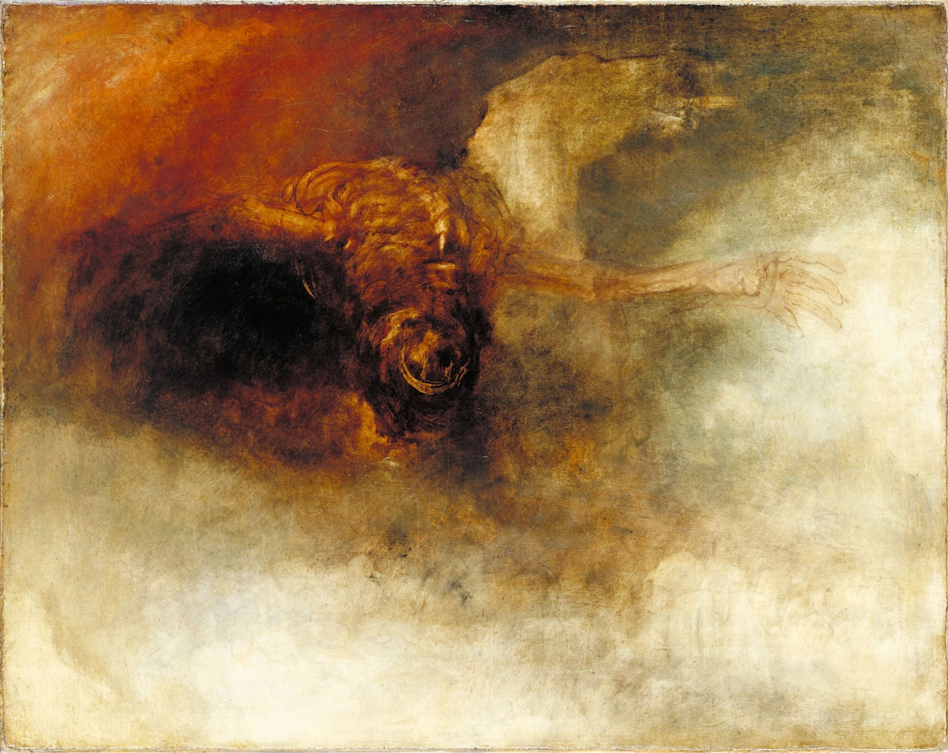 J.M.W. Turner's The Fall of Anarchy (?) (around 1833-34)  is on show at Tate Britain Courtesy of Tate, Turner Bequest