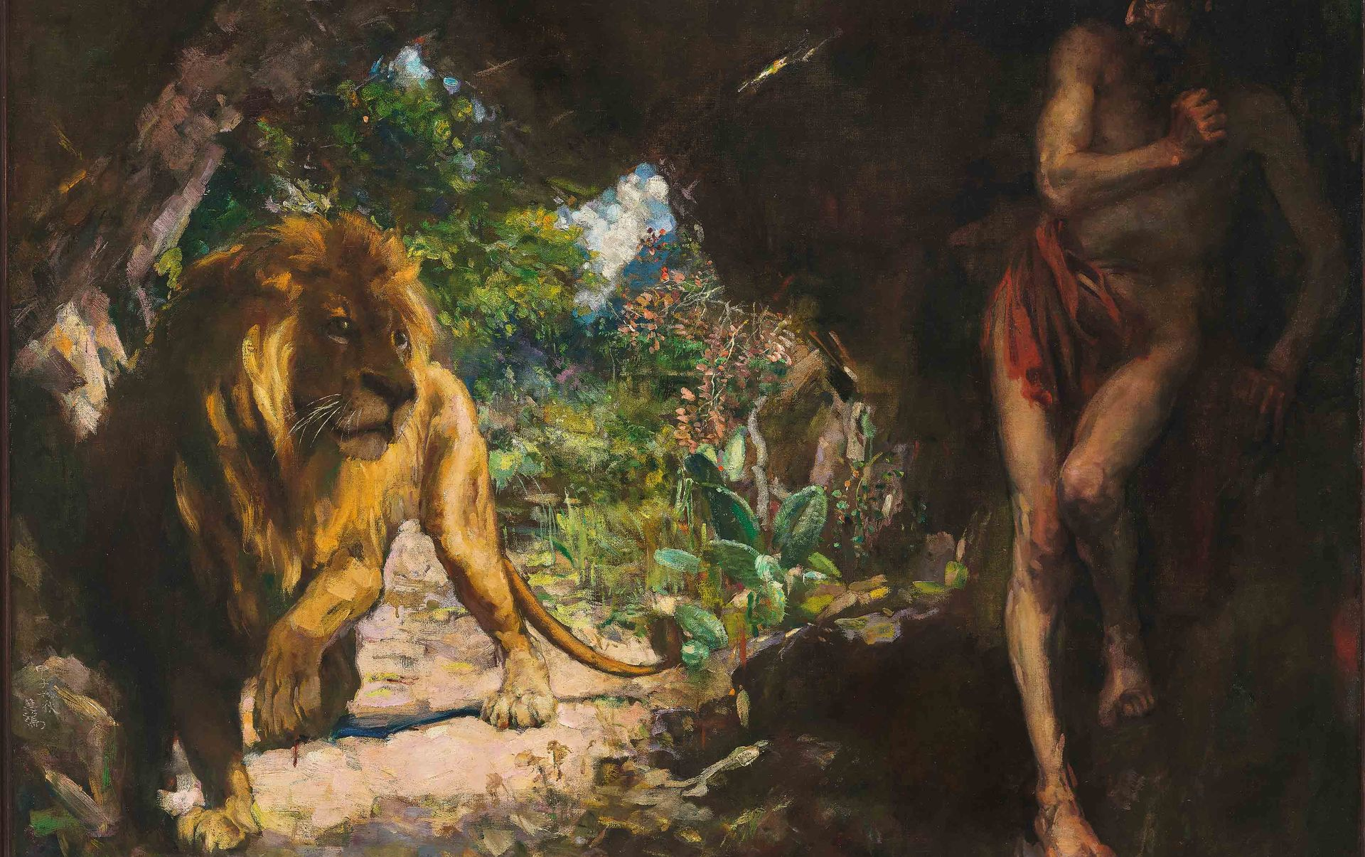 Xu Beihong's Slave and Lion  (1924) Courtesy of Christie's