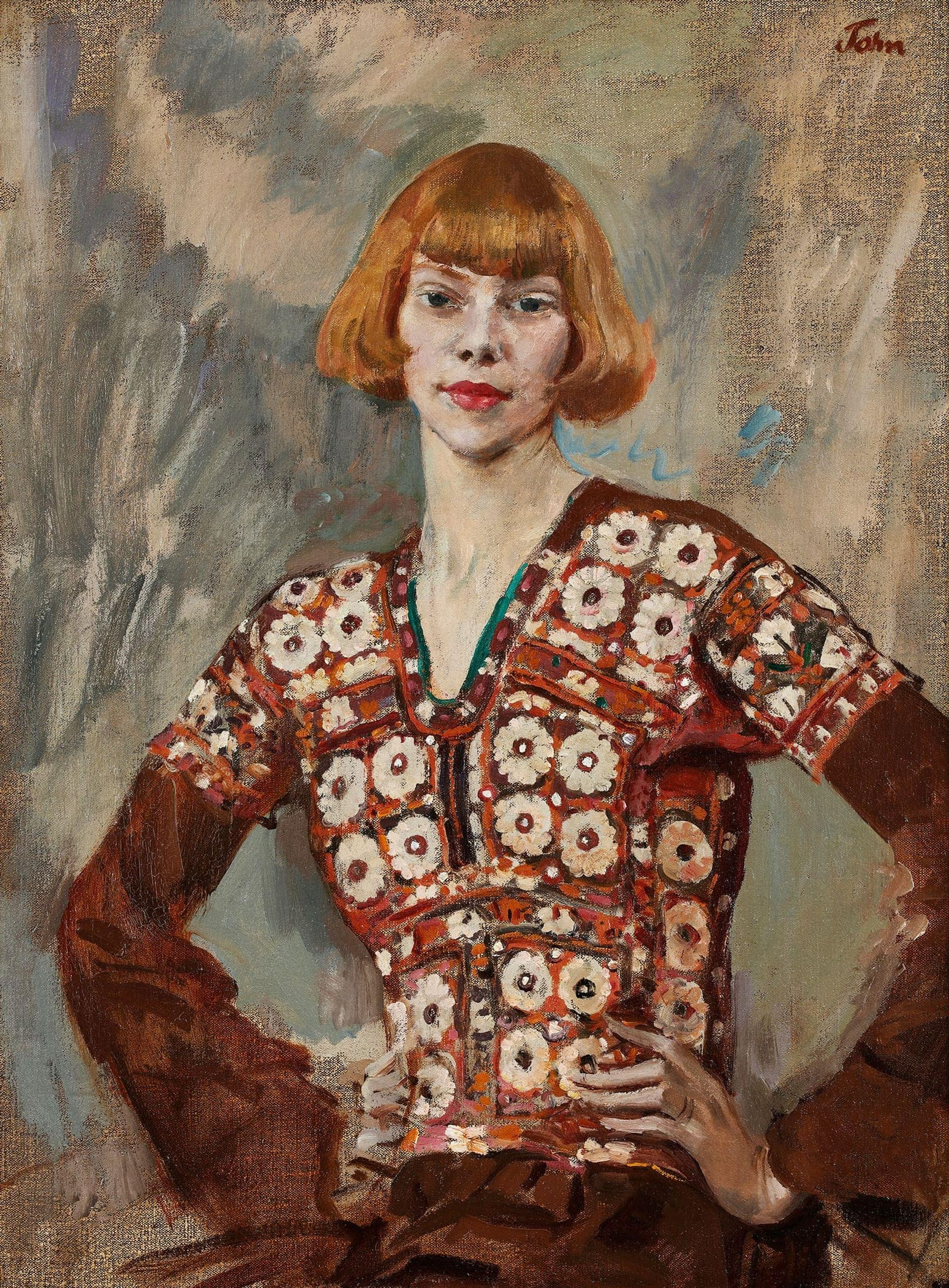 Augustus John's portrait of the poet, actress and artist's model Iris Beerbohm Tree (1920), from Phillip Mould Courtesy of Phillip Mould